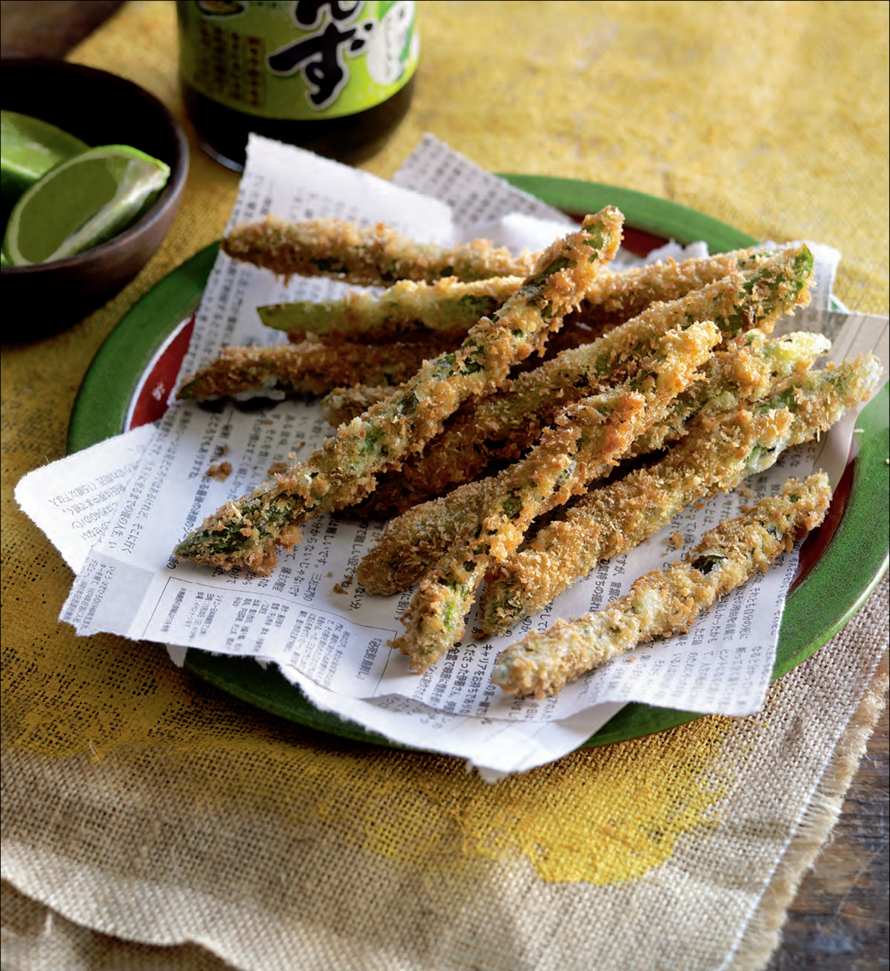 Crumbed asparagus