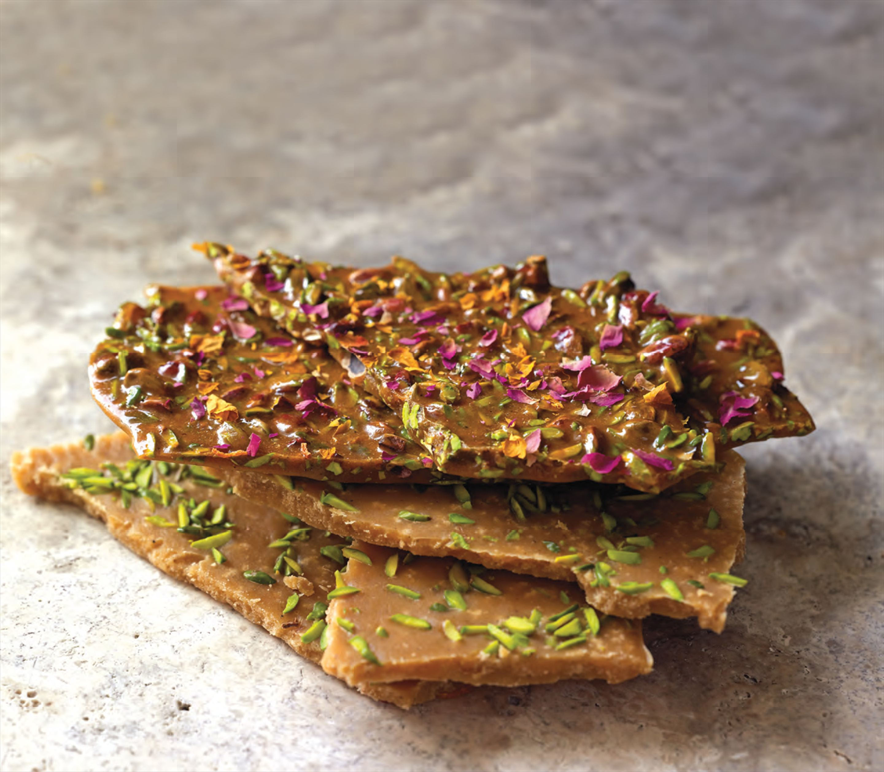 Cardamom–pistachio butter fudge from Qom