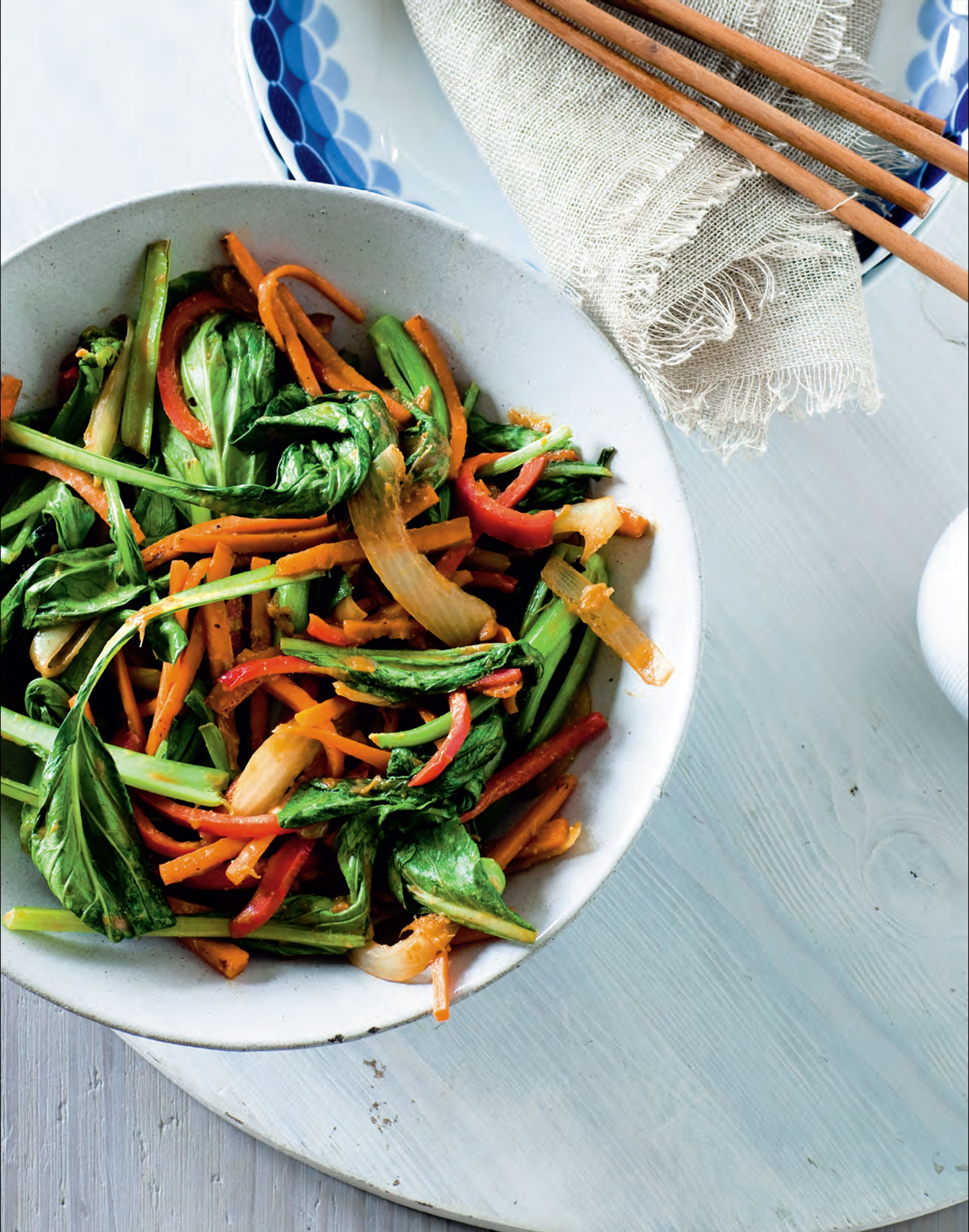 Vegetable stir-fry with miso