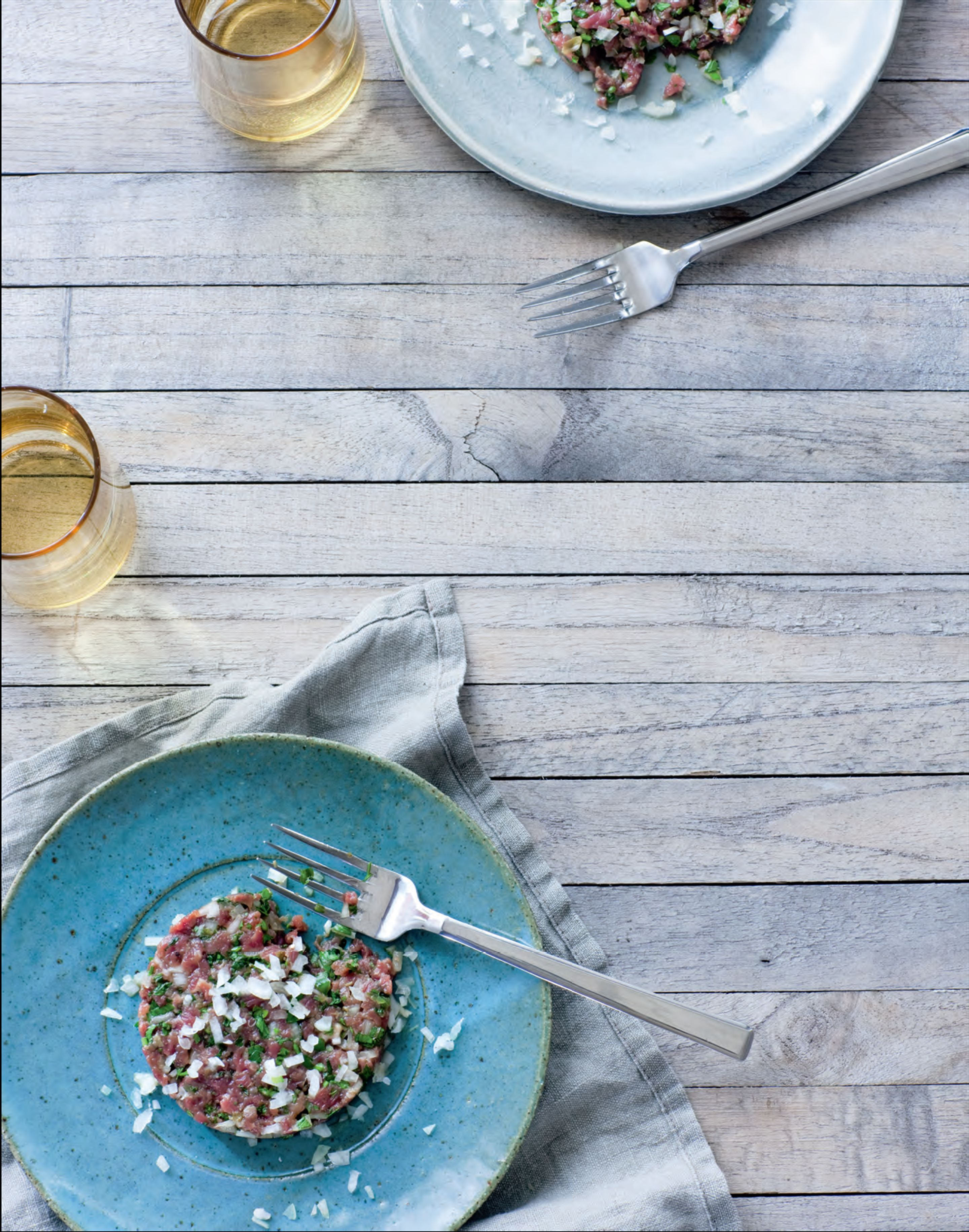 Middle Eastern-inspired beef tartare
