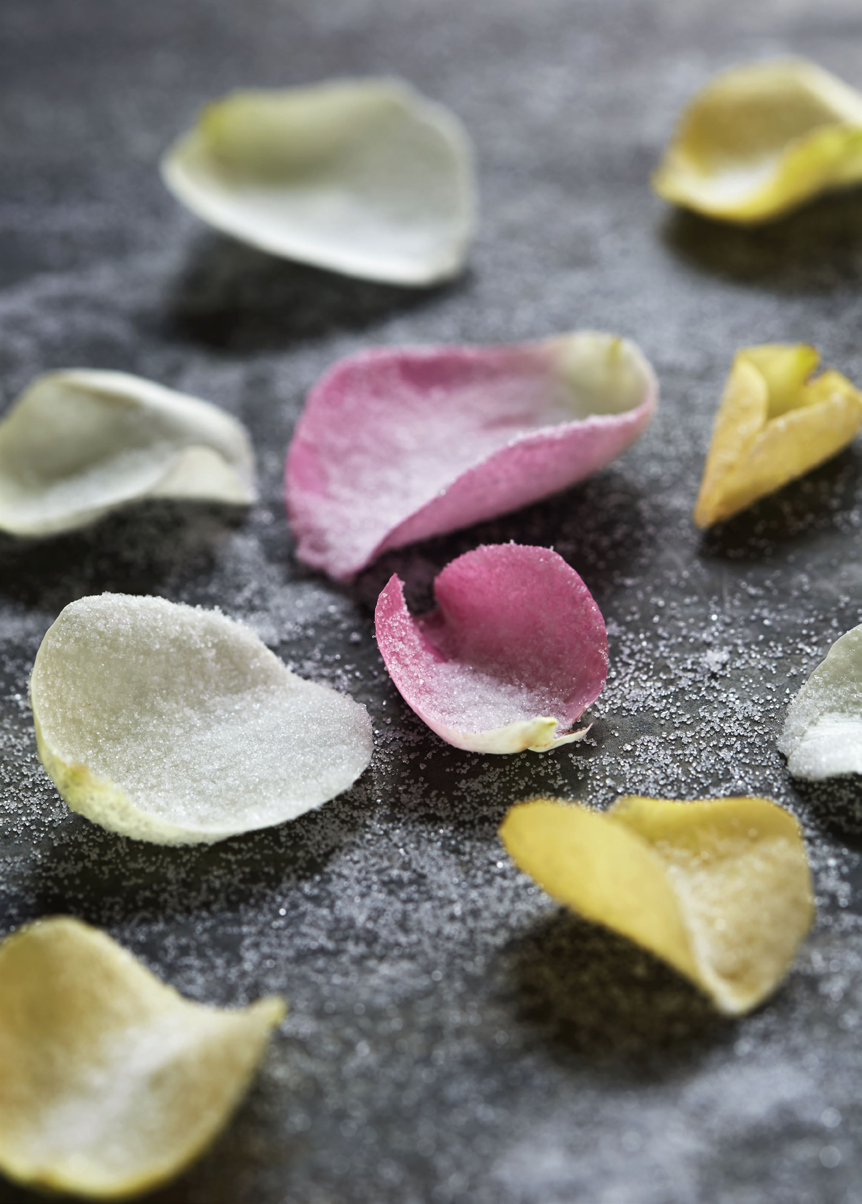Crystallised rose petals