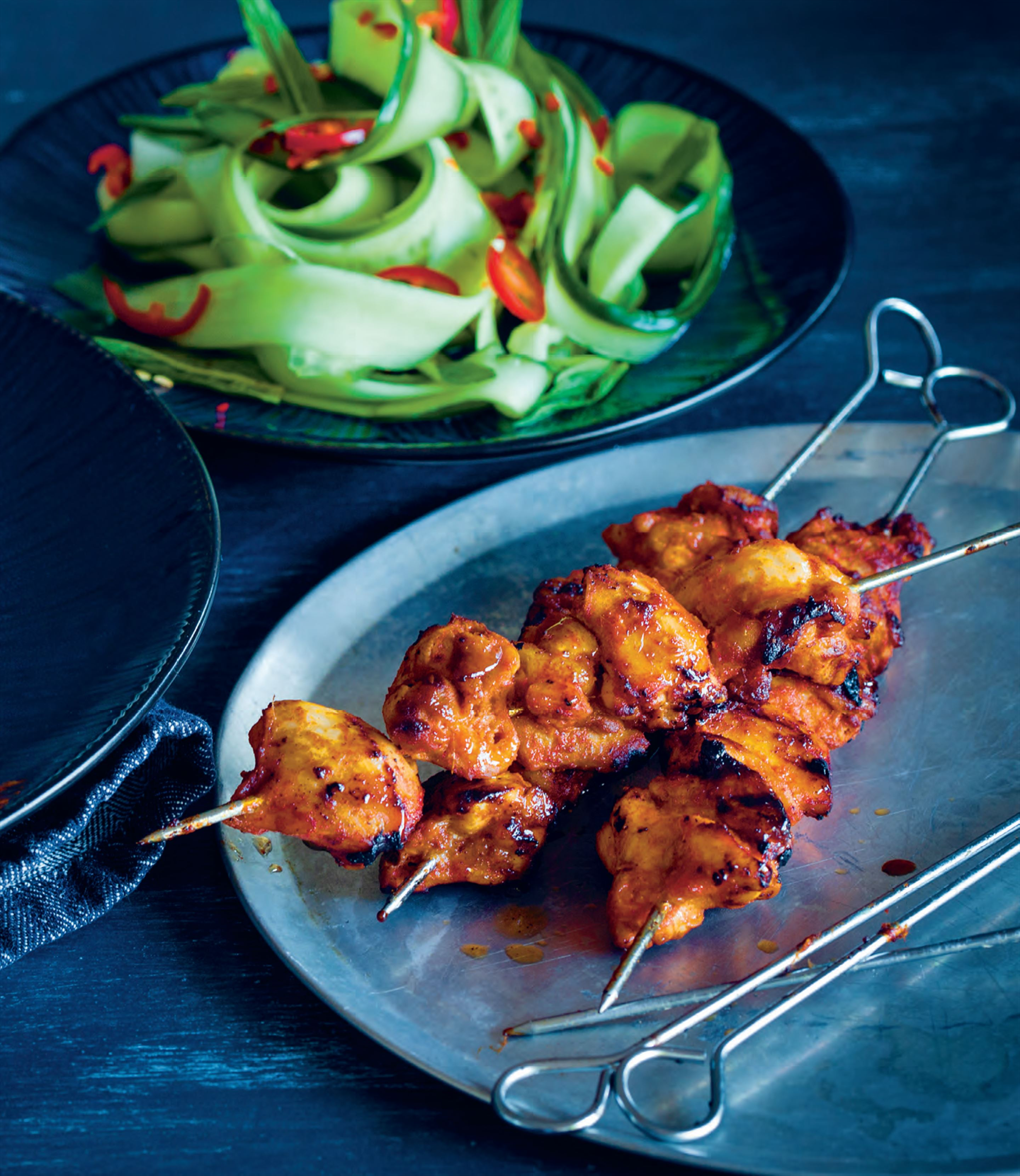 Barbecued butter chicken tikka