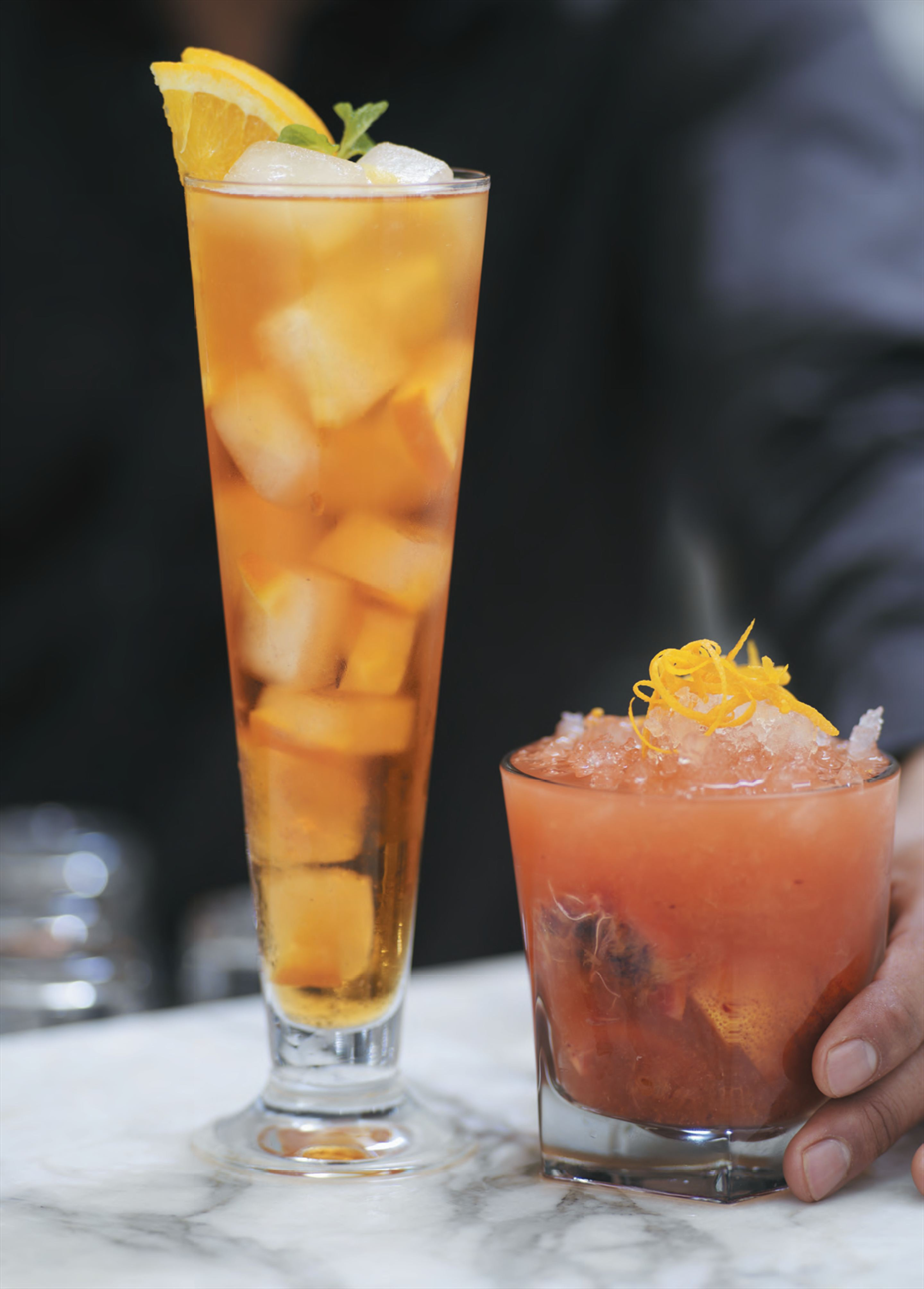 Blood orange caipiroska