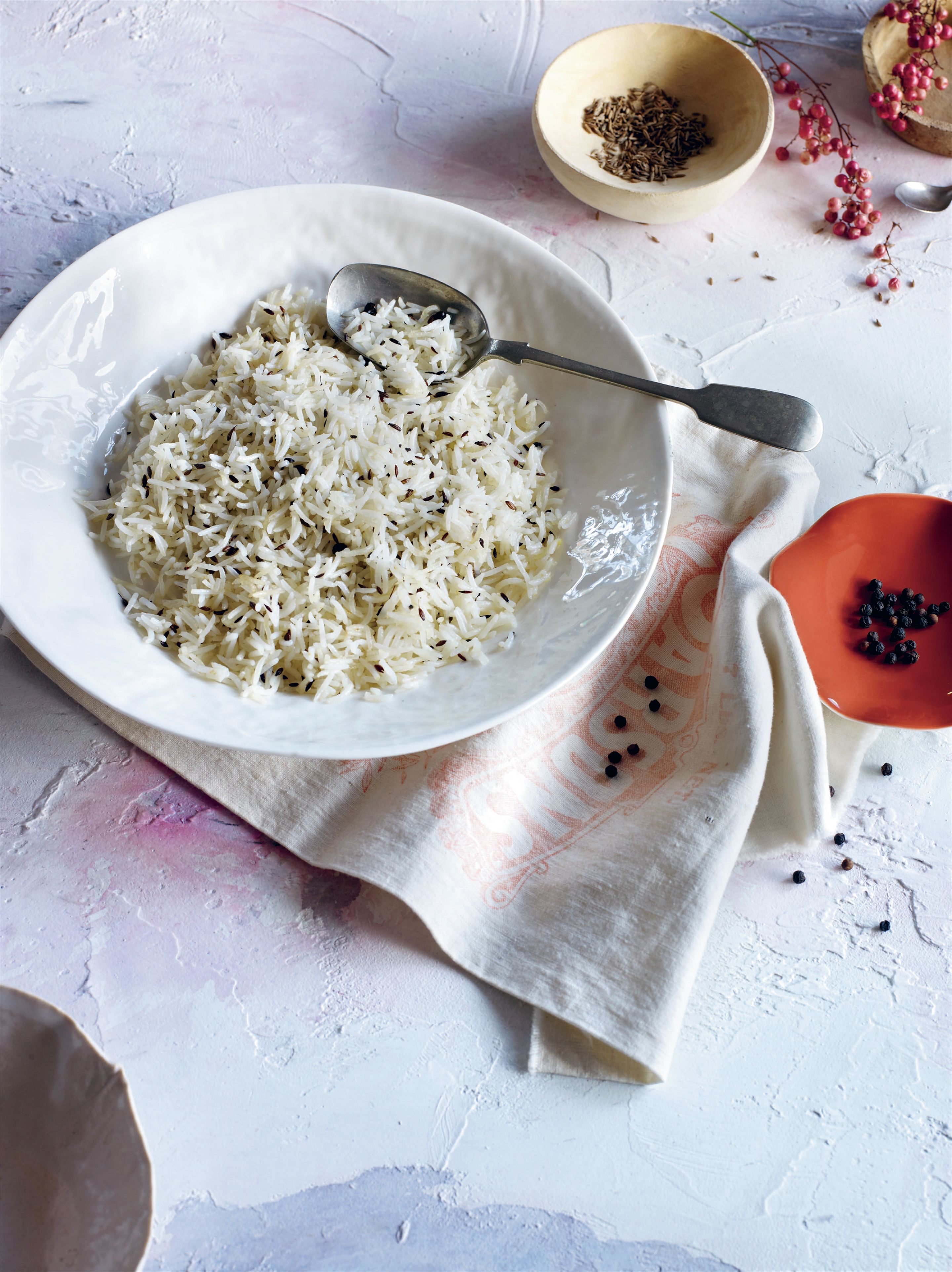 Black peppercorn and cumin rice
