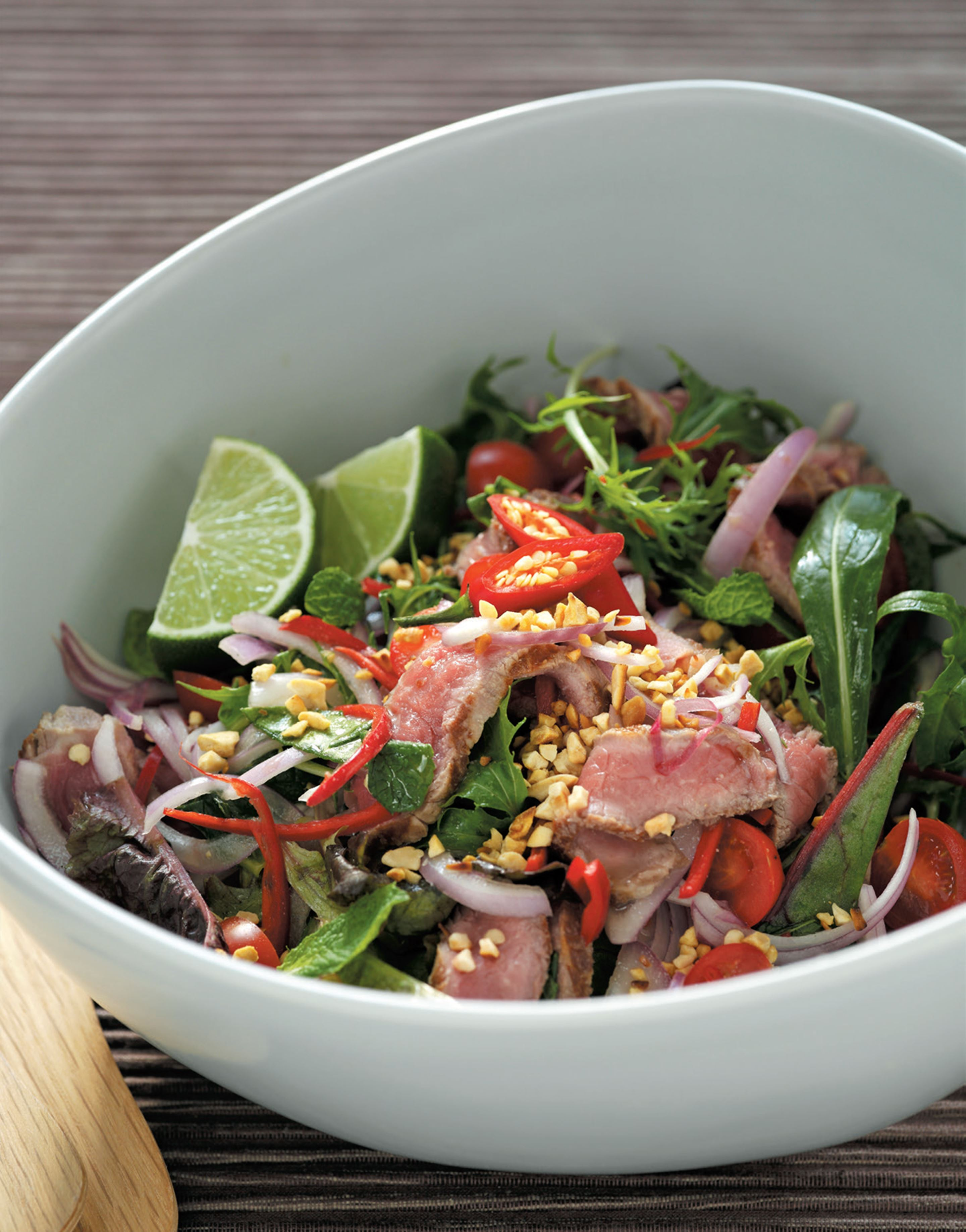 Hot Thai beef salad