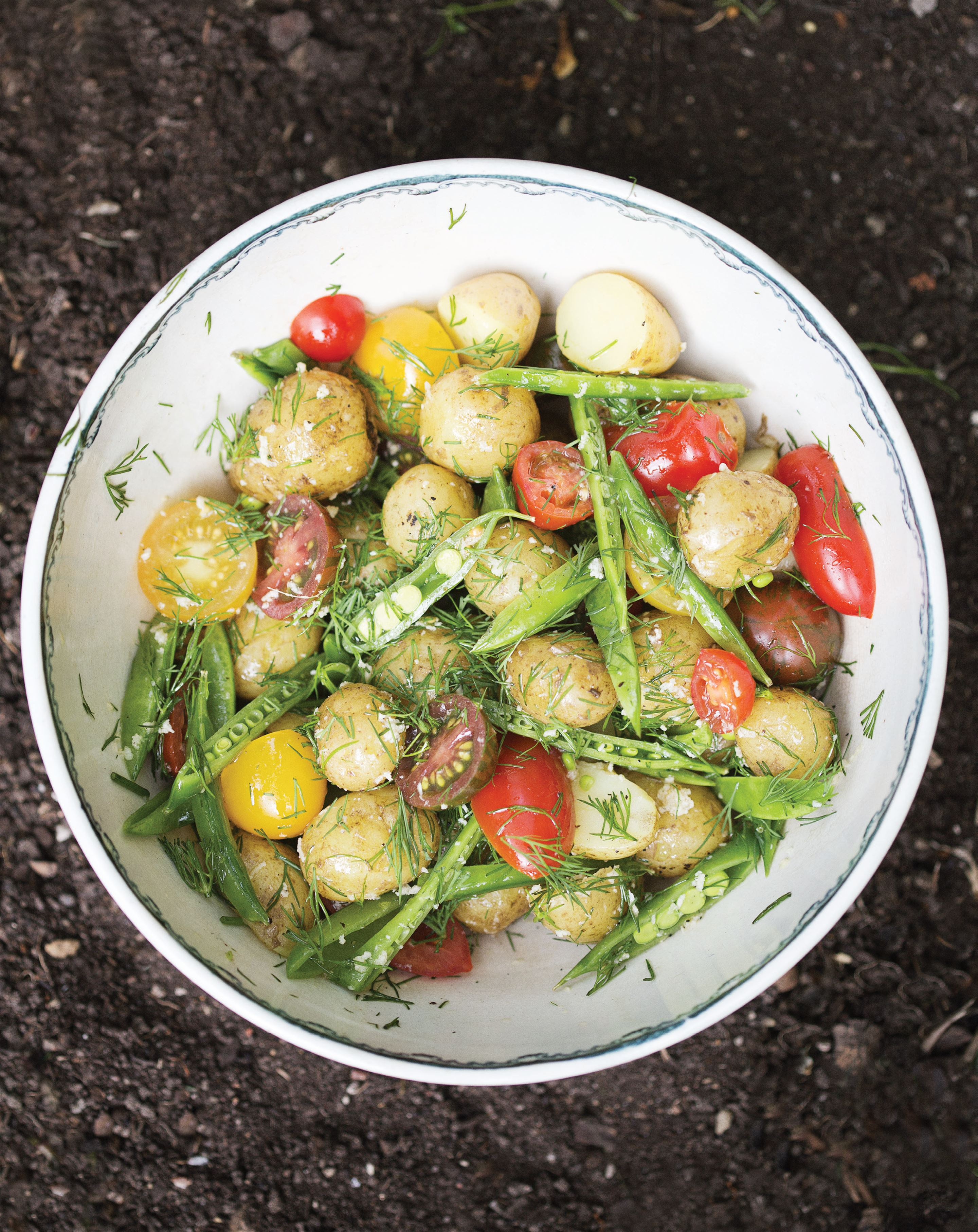 Potato salad with dill and horseradish