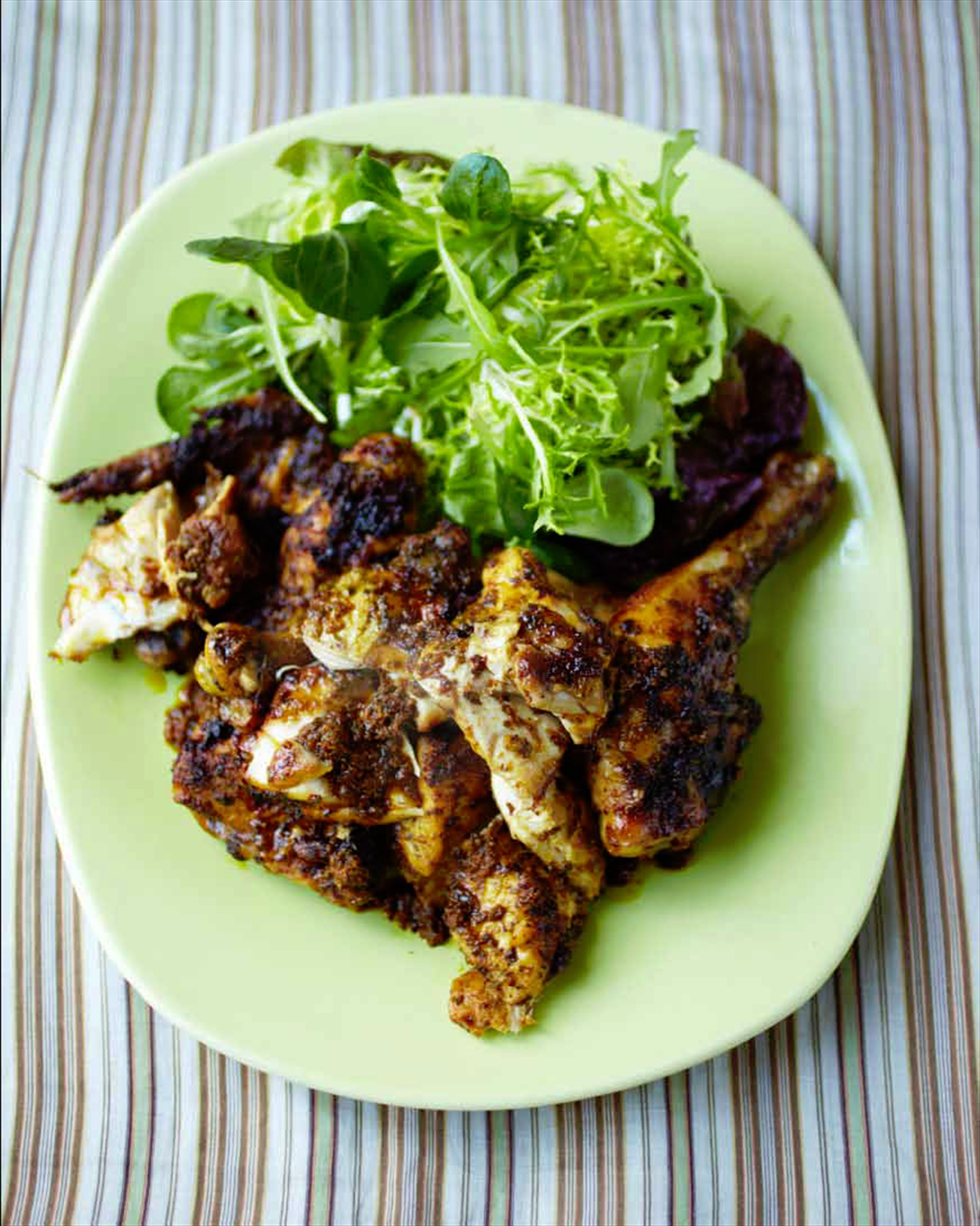 Mechoui-style roast chicken