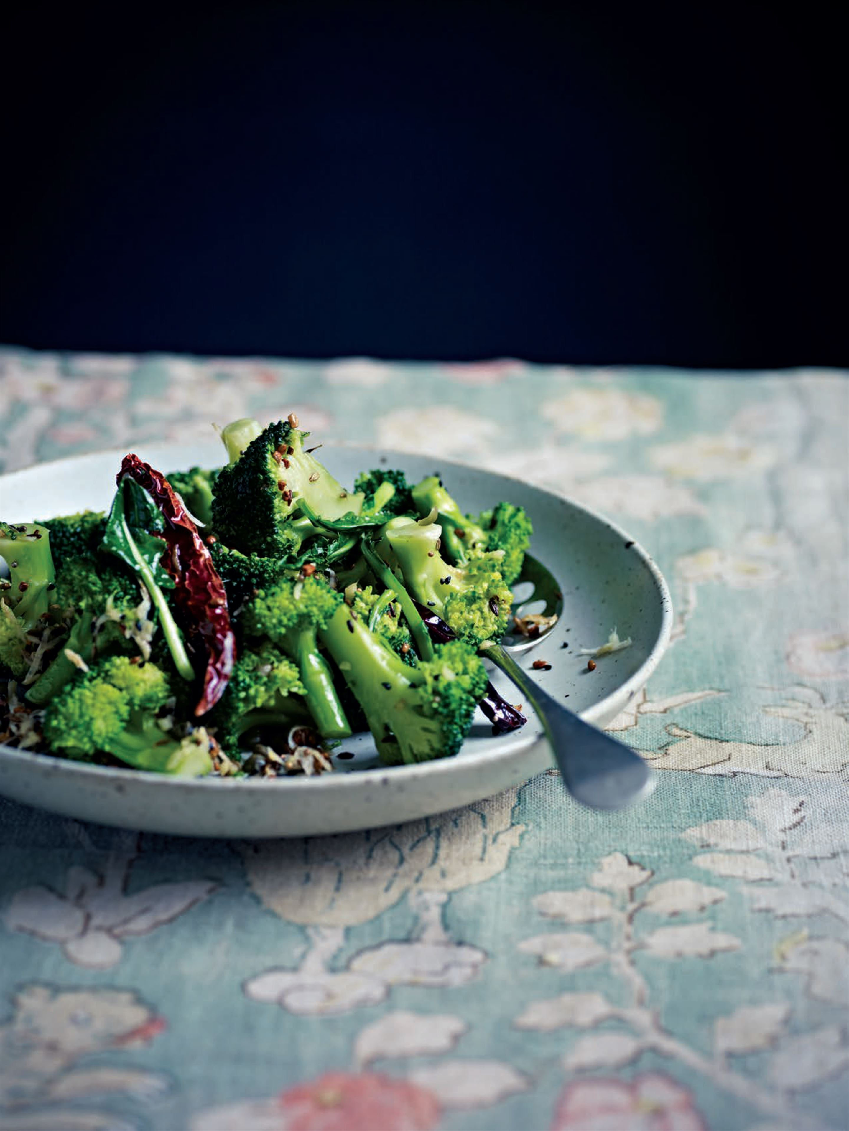 Spiced broccoli with capers