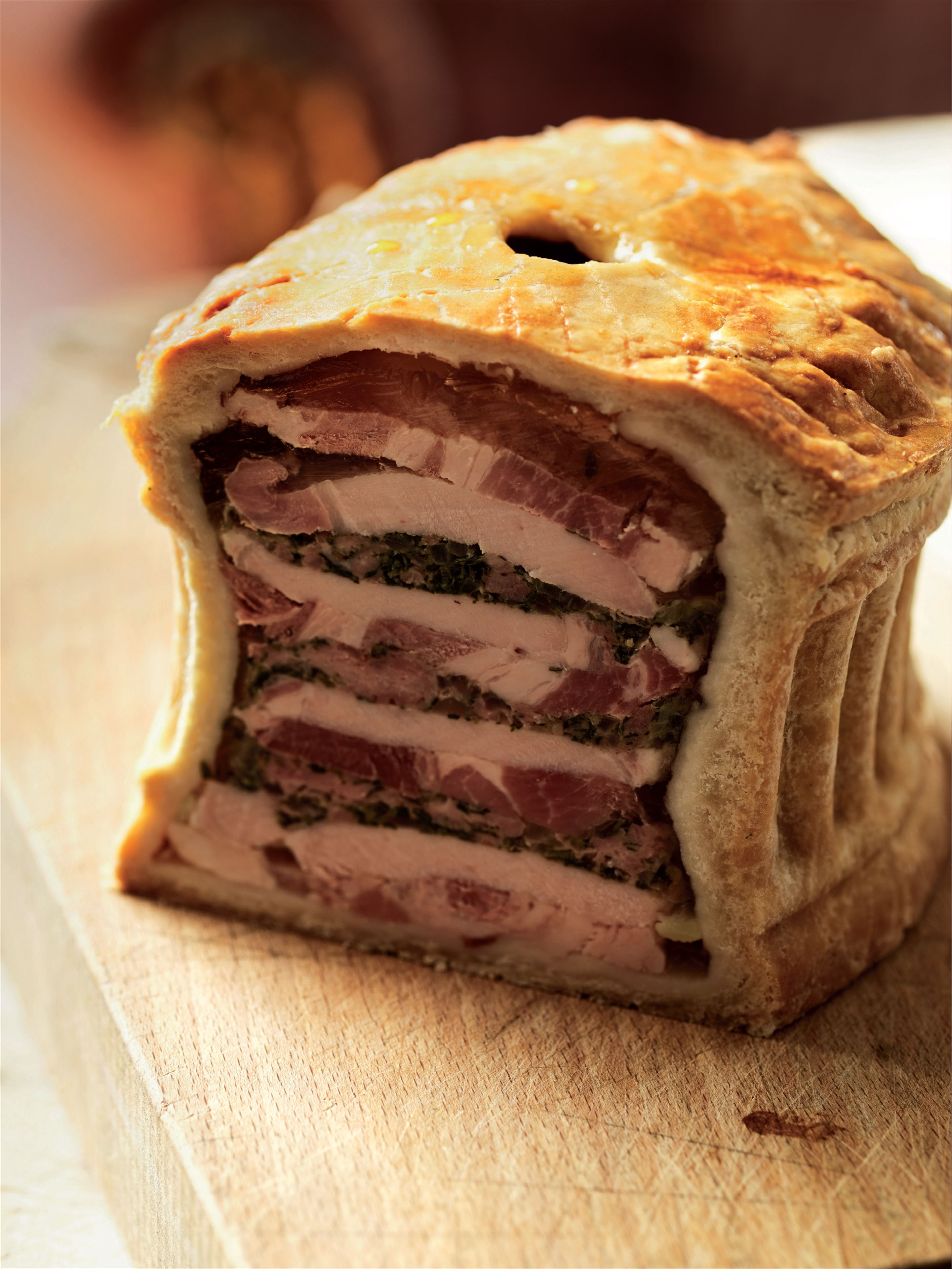 Cold veal and ham pie
