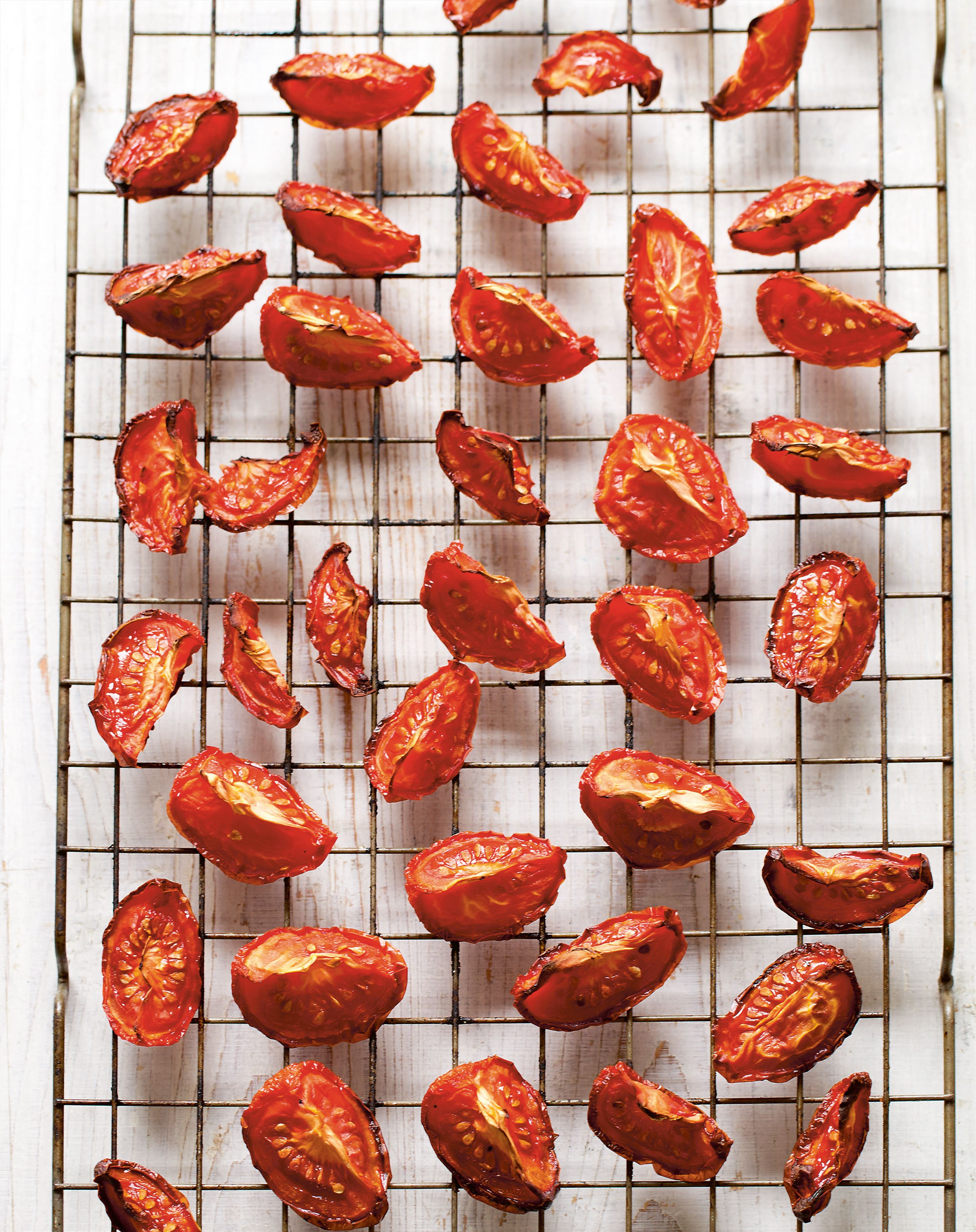 Oven-dried tomatoes in garlic oil