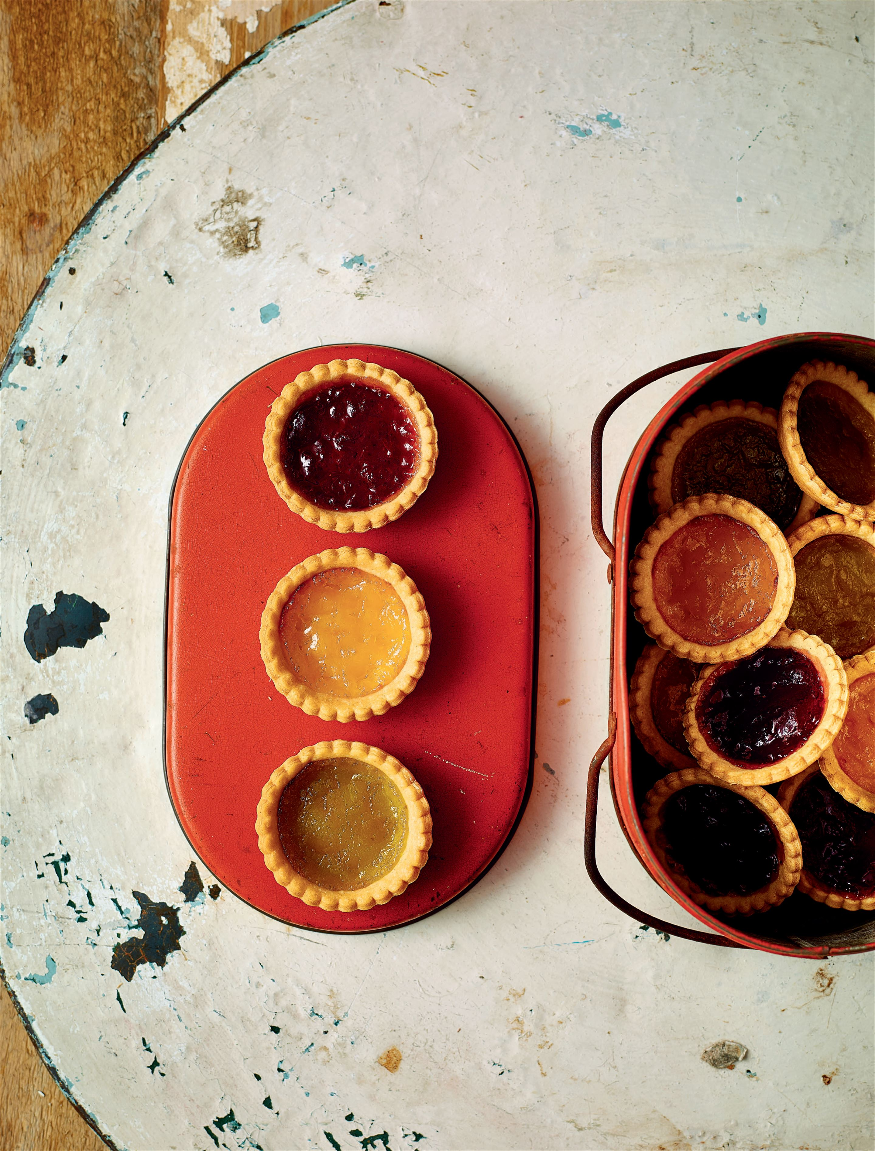 Traffic light jam tarts