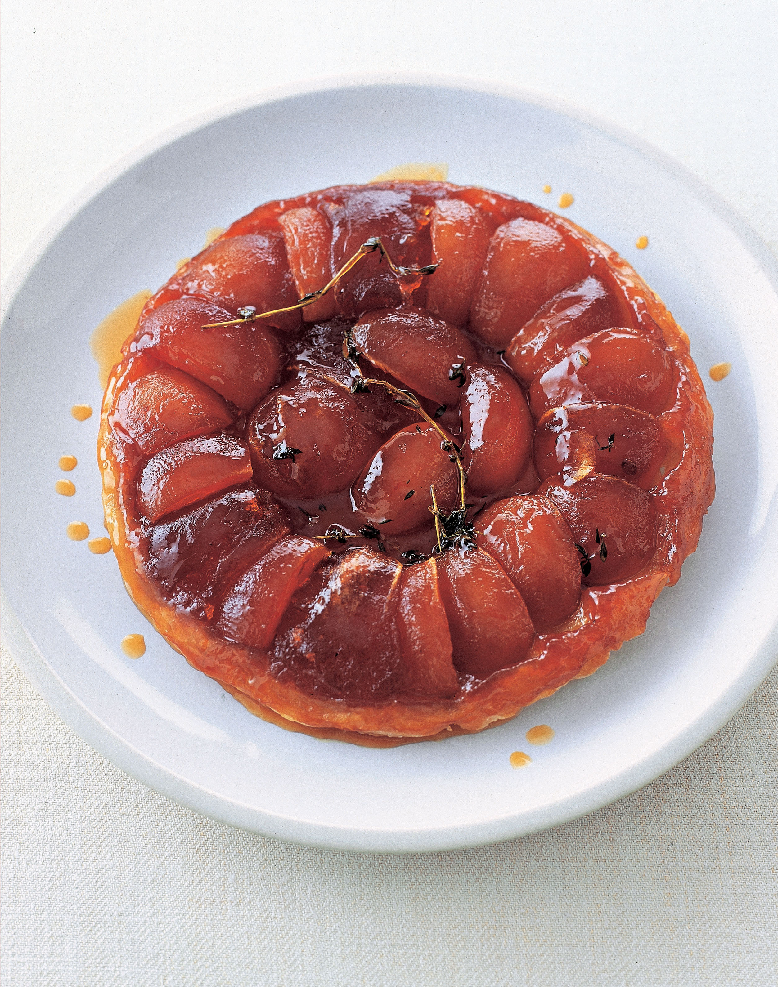 Apple and thyme tarte tatin