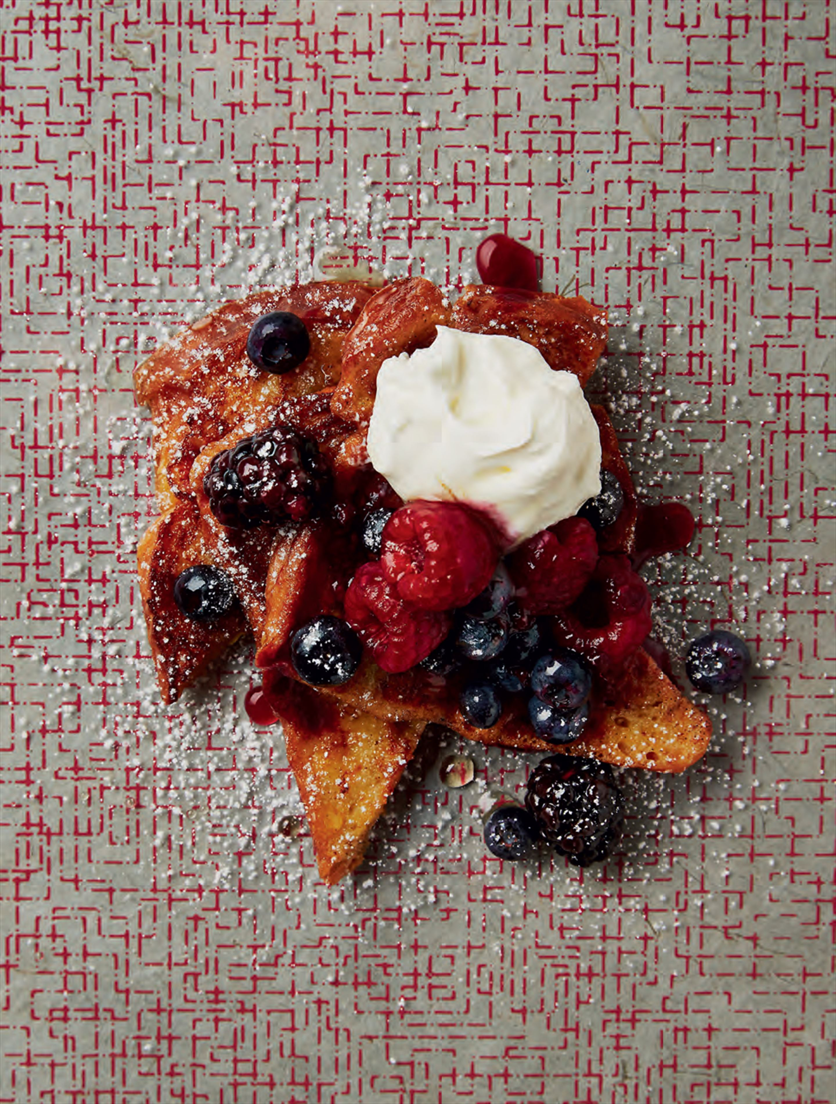 French toast berries & mascarpone