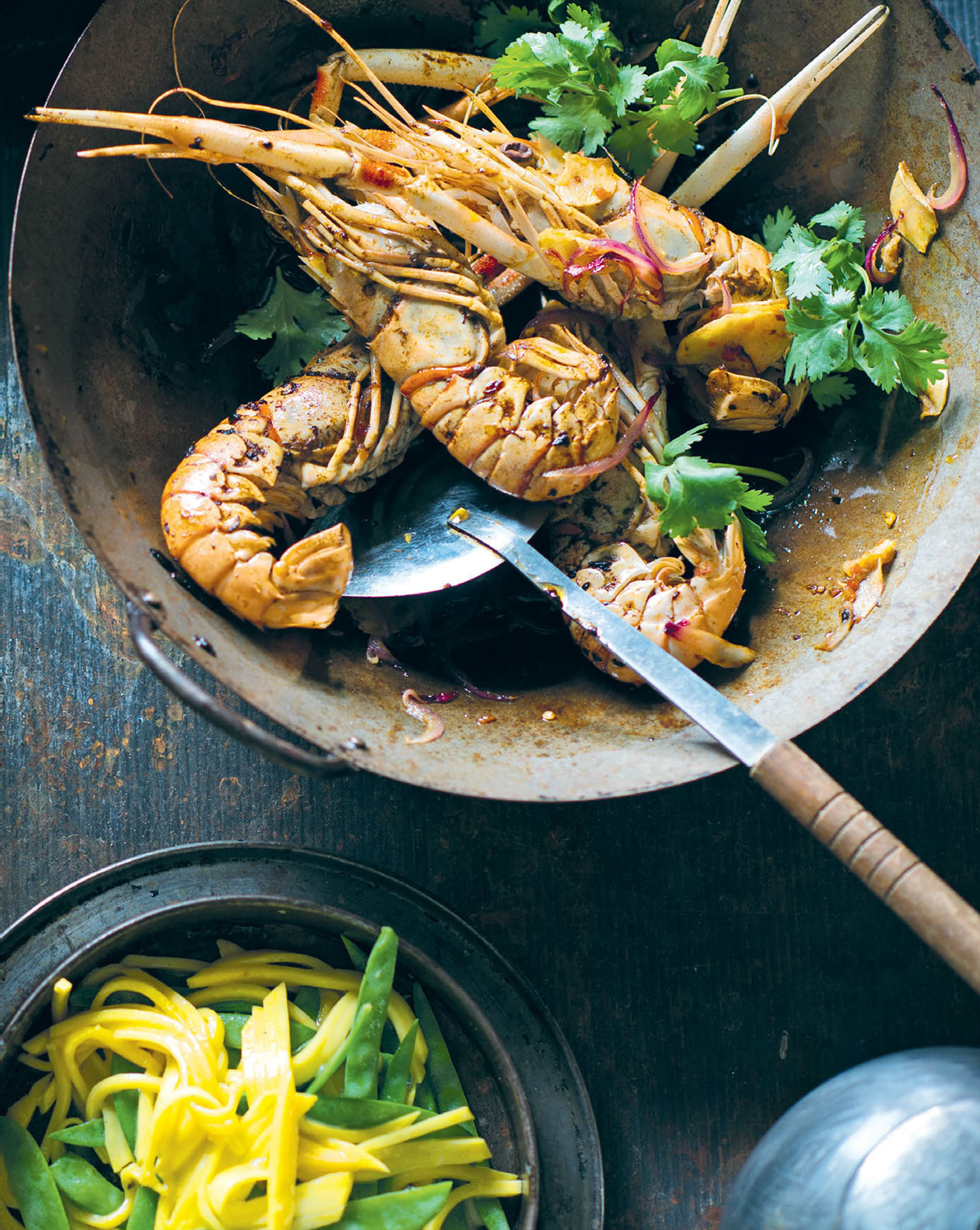 Langoustines with mango & dijon dressing