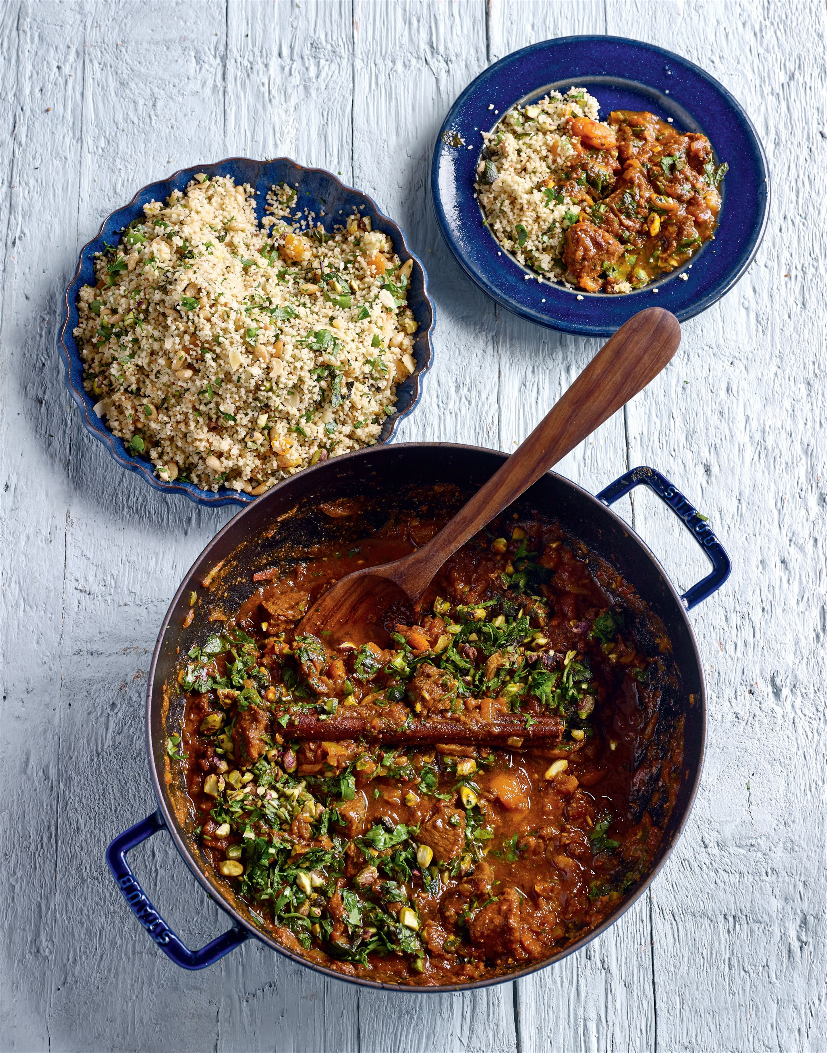 Goat tagine with toasted nut couscous
