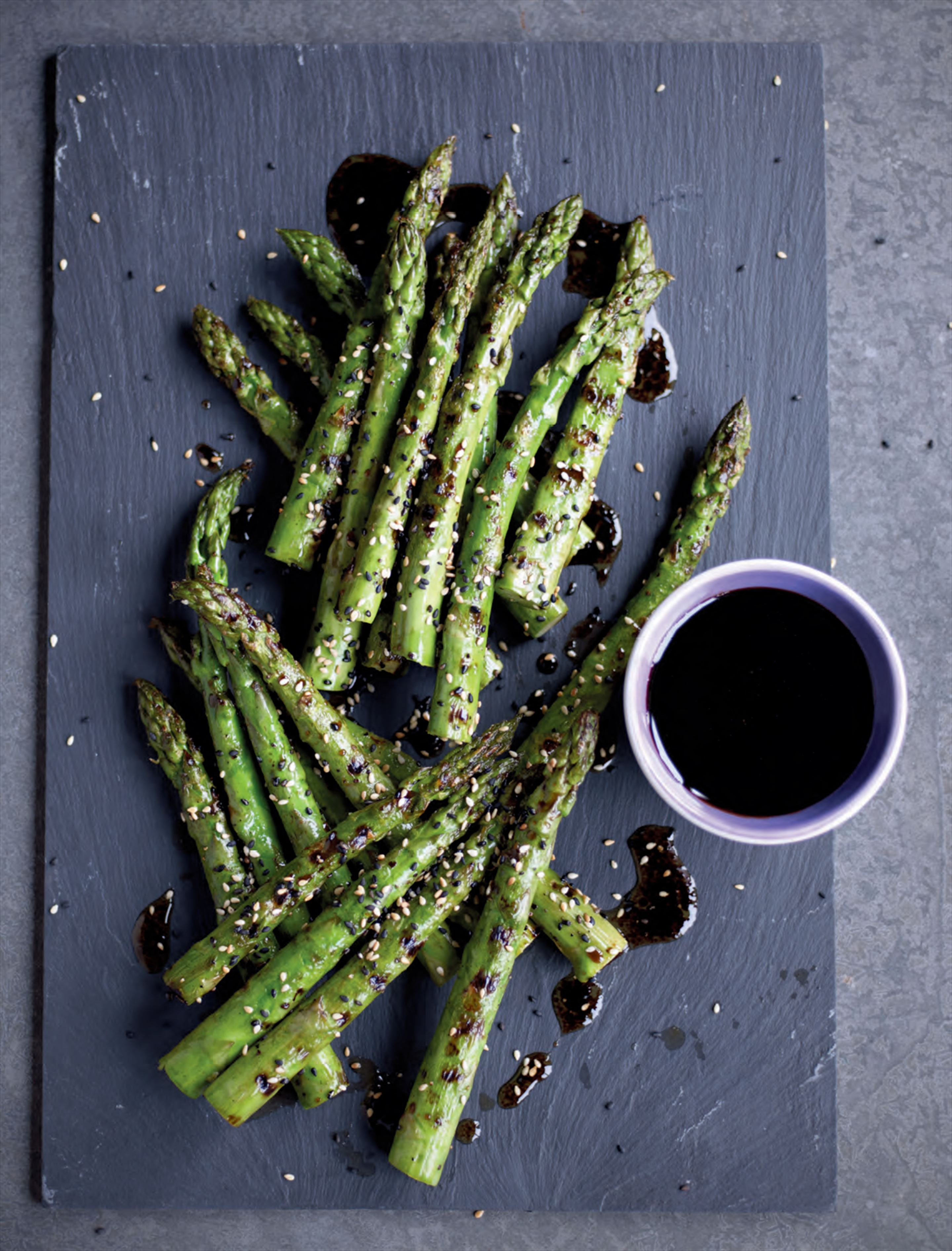 Asparagus with sweet soy & sesame