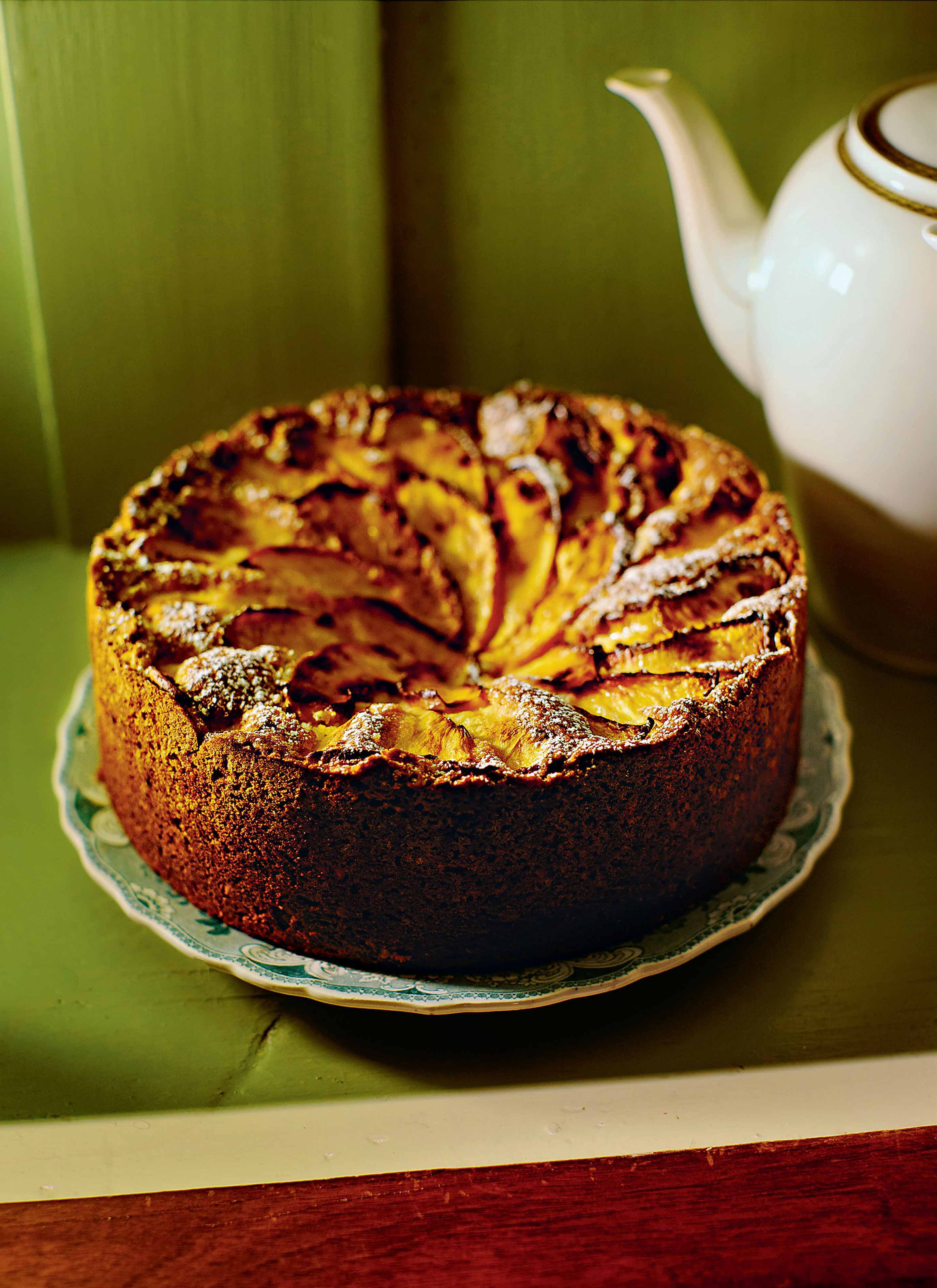 Nectarine and amaretto cake