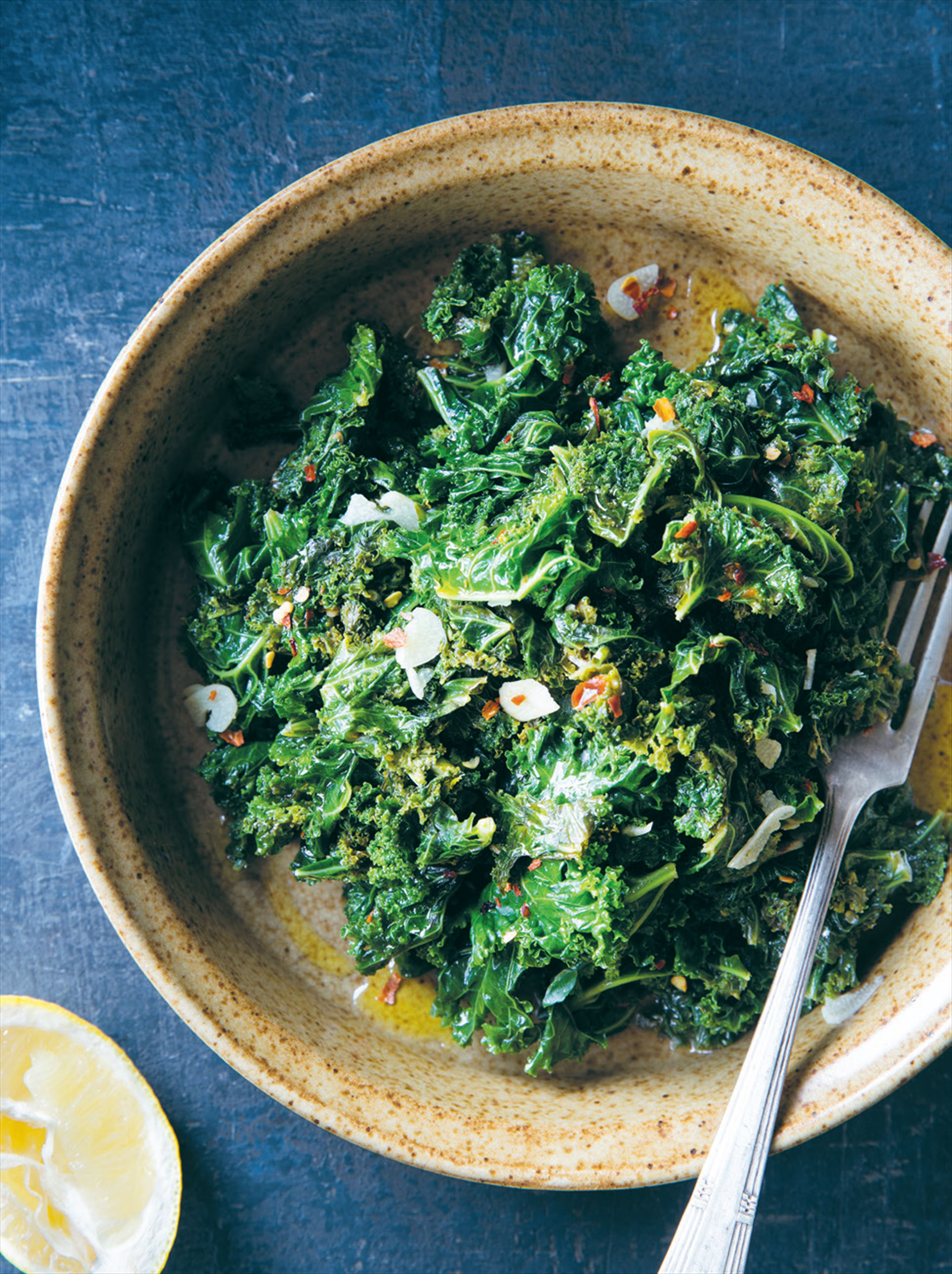 Garlic & chilli kale
