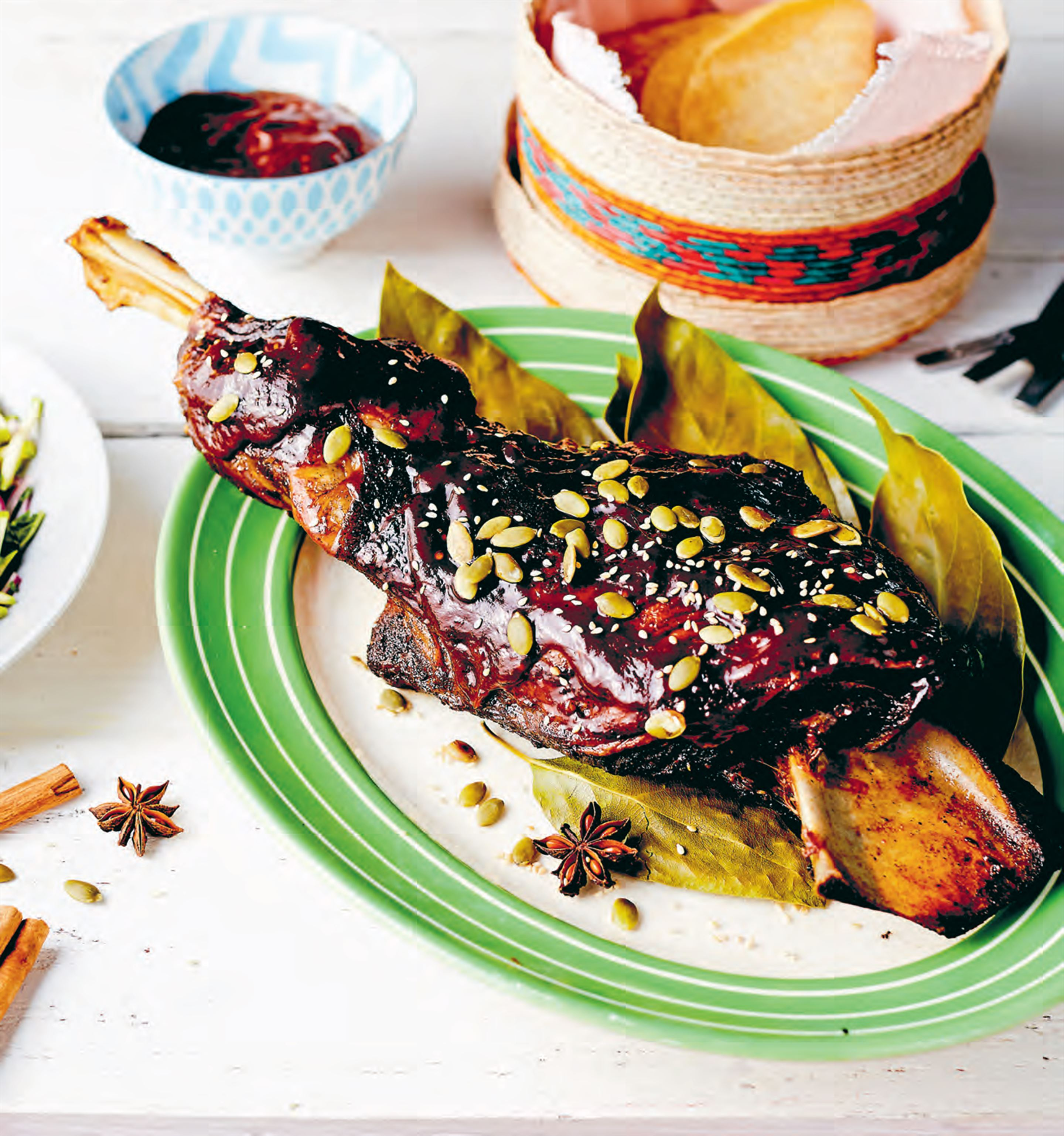 Slow roasted lamb 'barbecoa style' with tamarind chilli mole