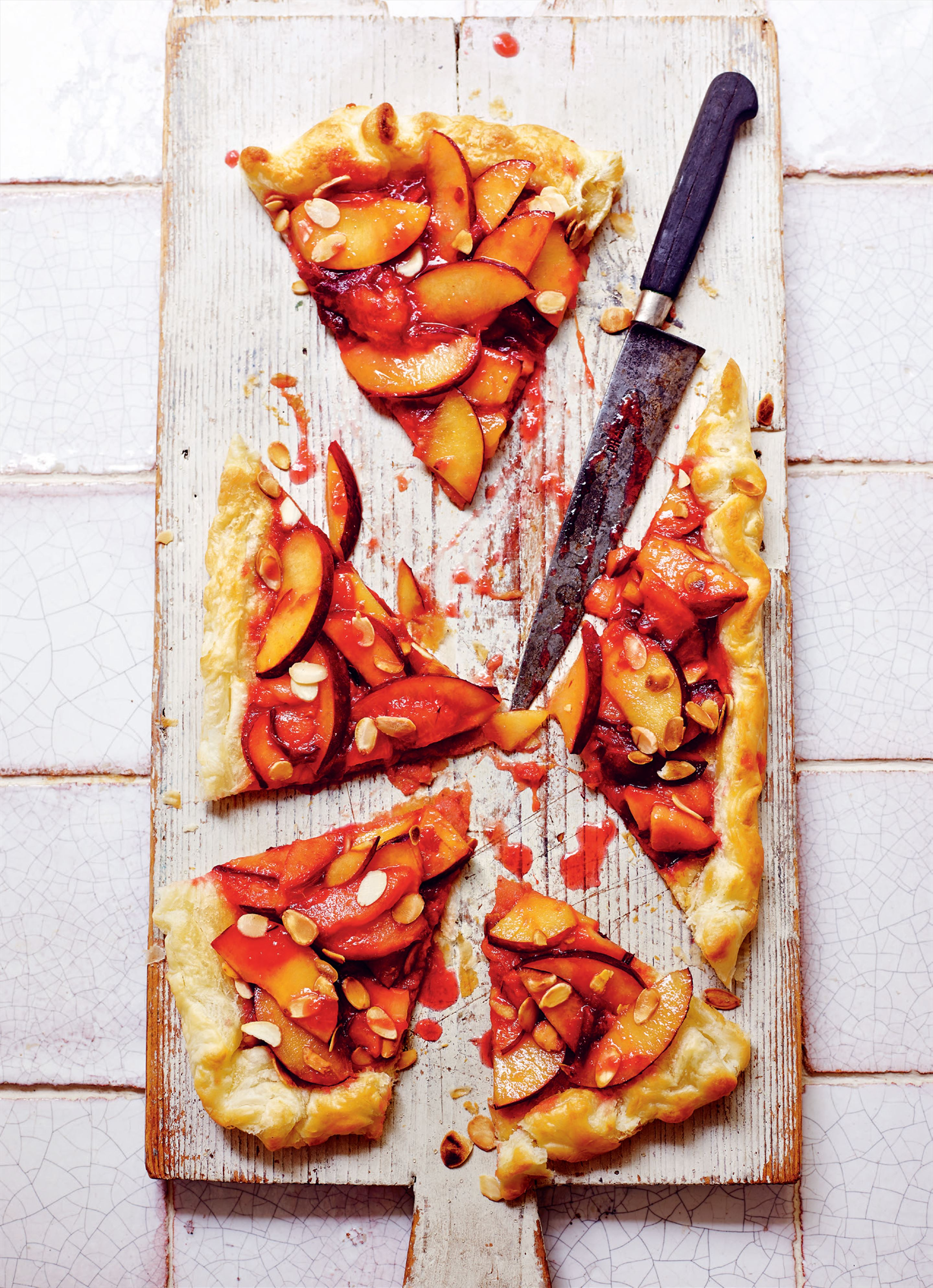 Plum and almond galette