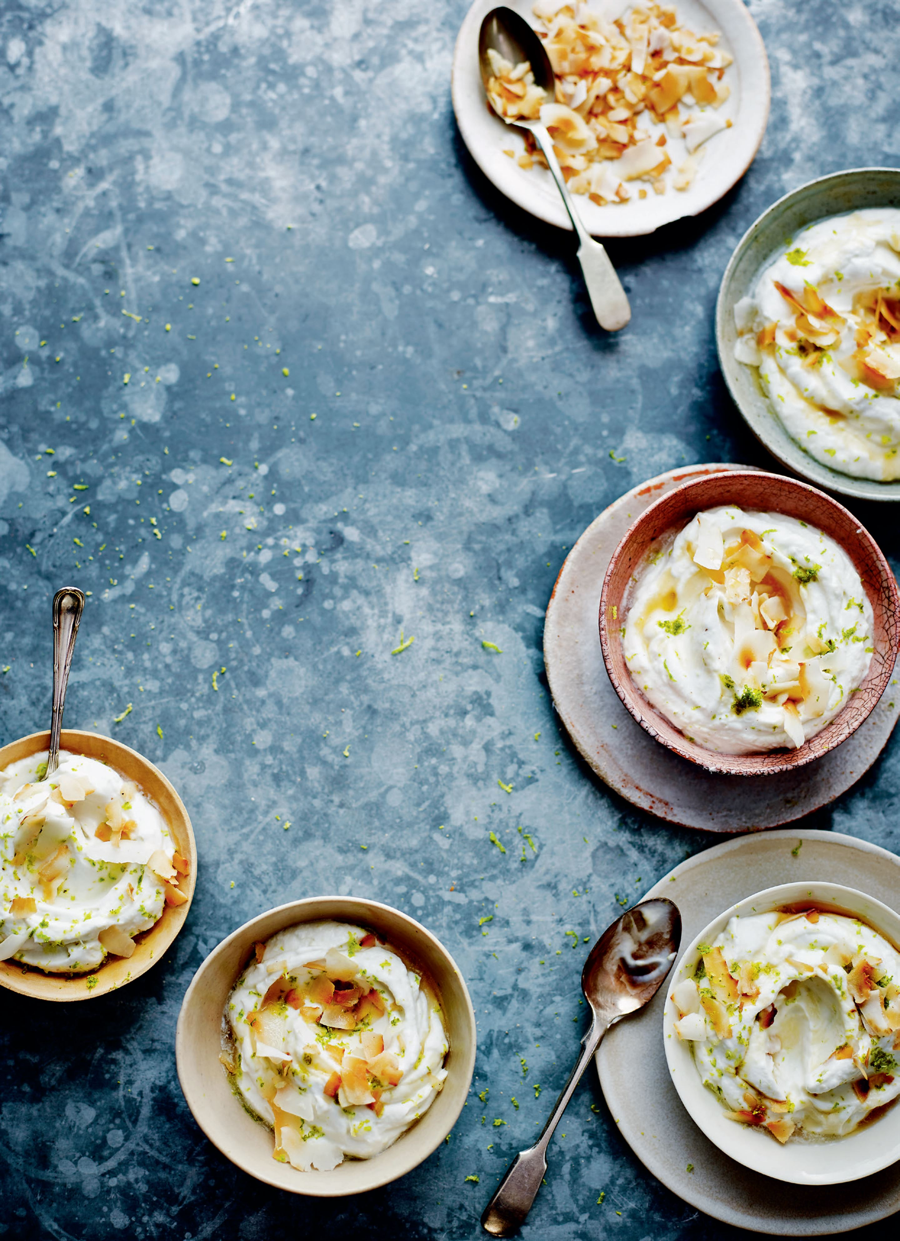 Lime and coconut syllabub