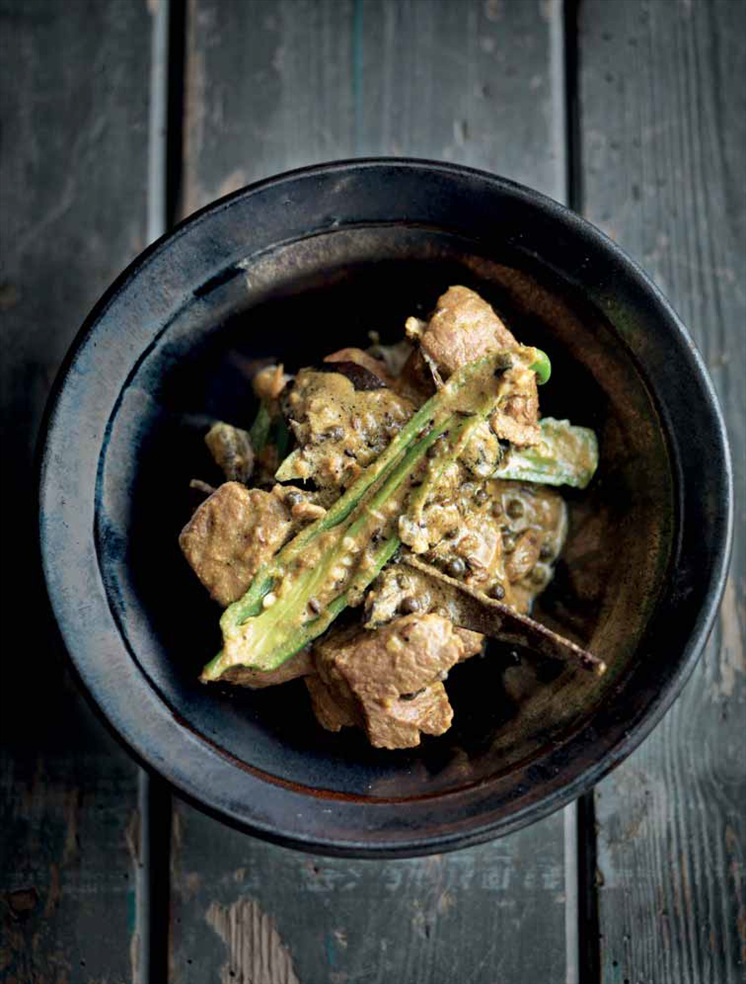 Lamb with green chillies