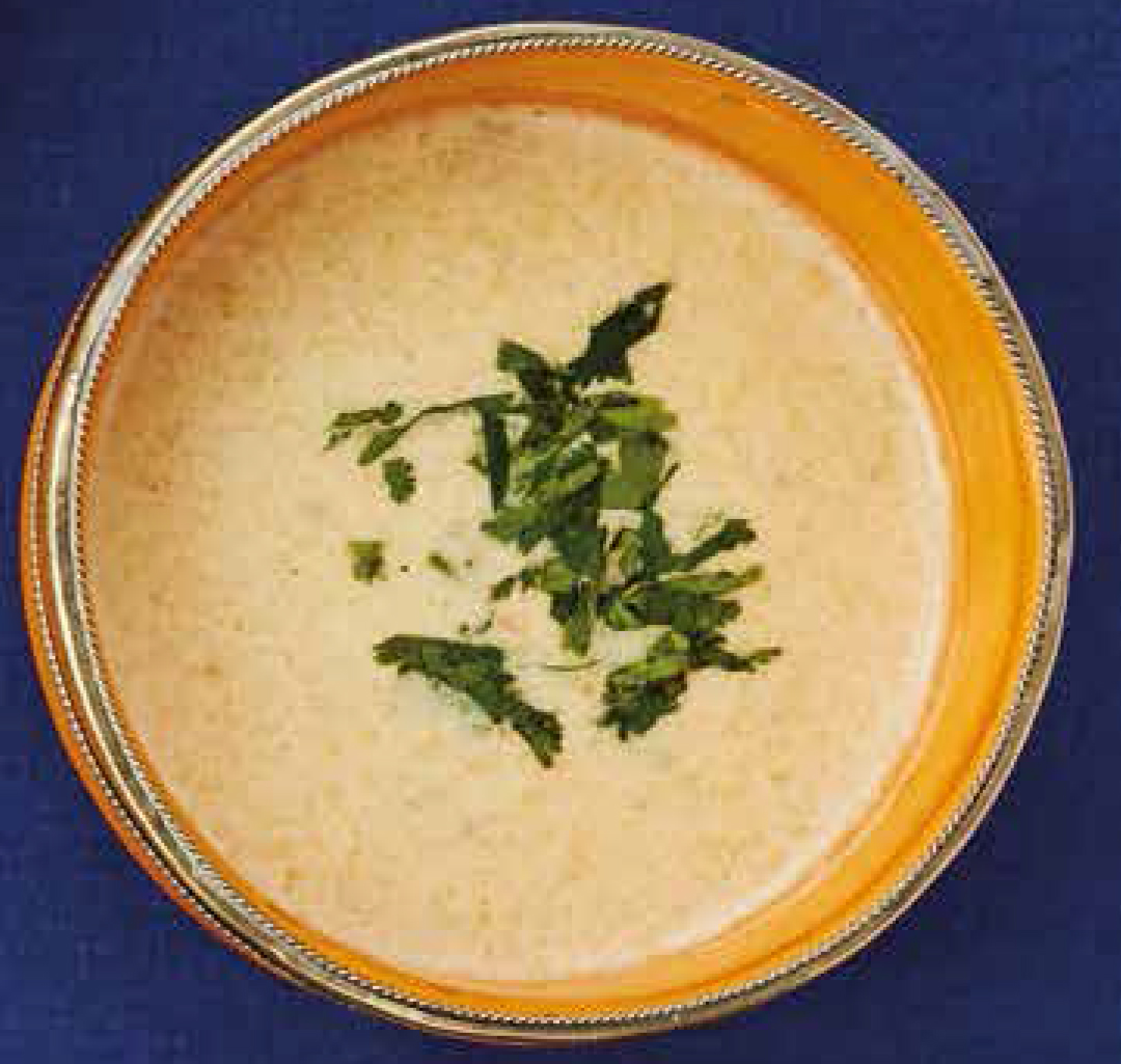 Amaranth flour and yoghurt soup