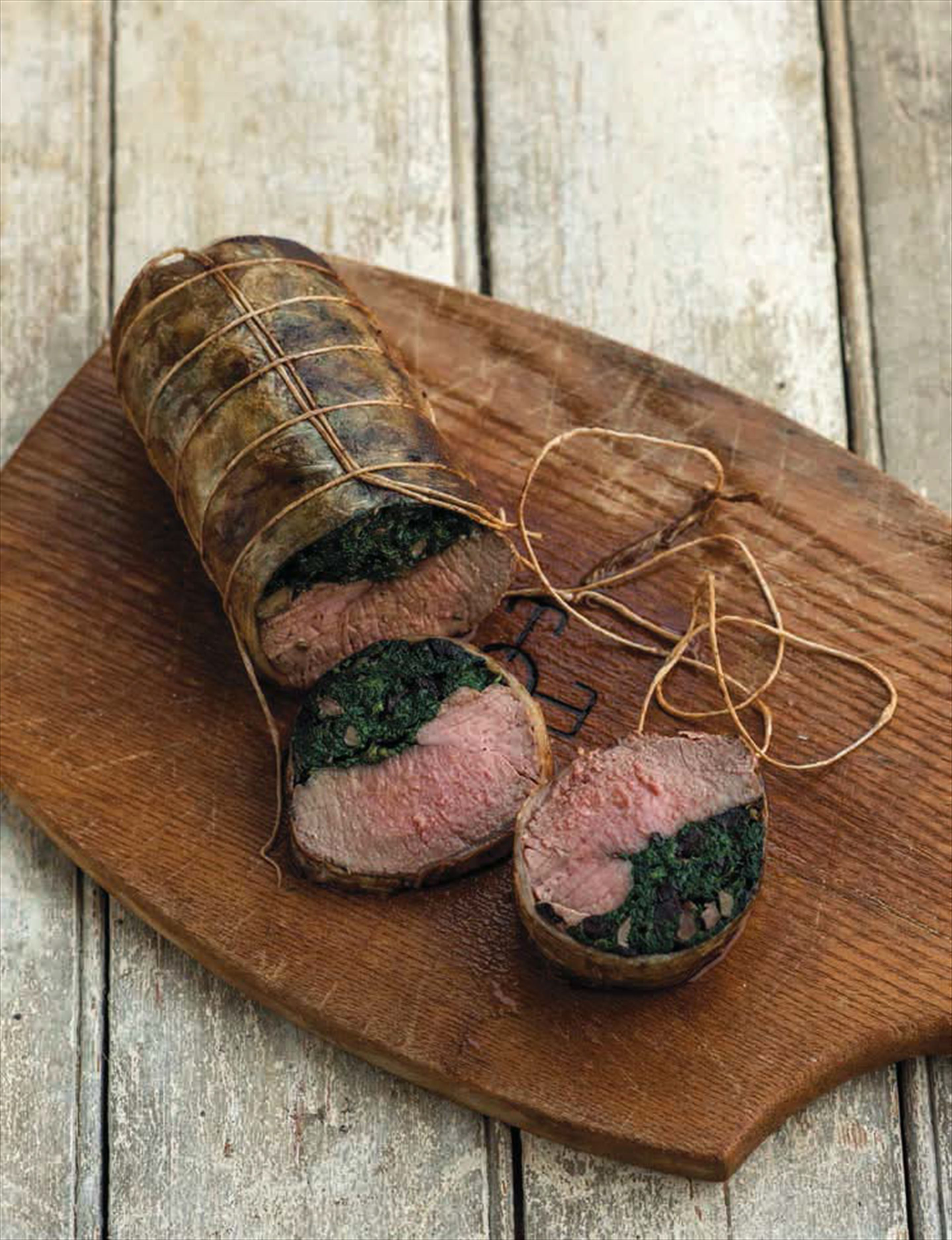 Stuffed saddle of hogget