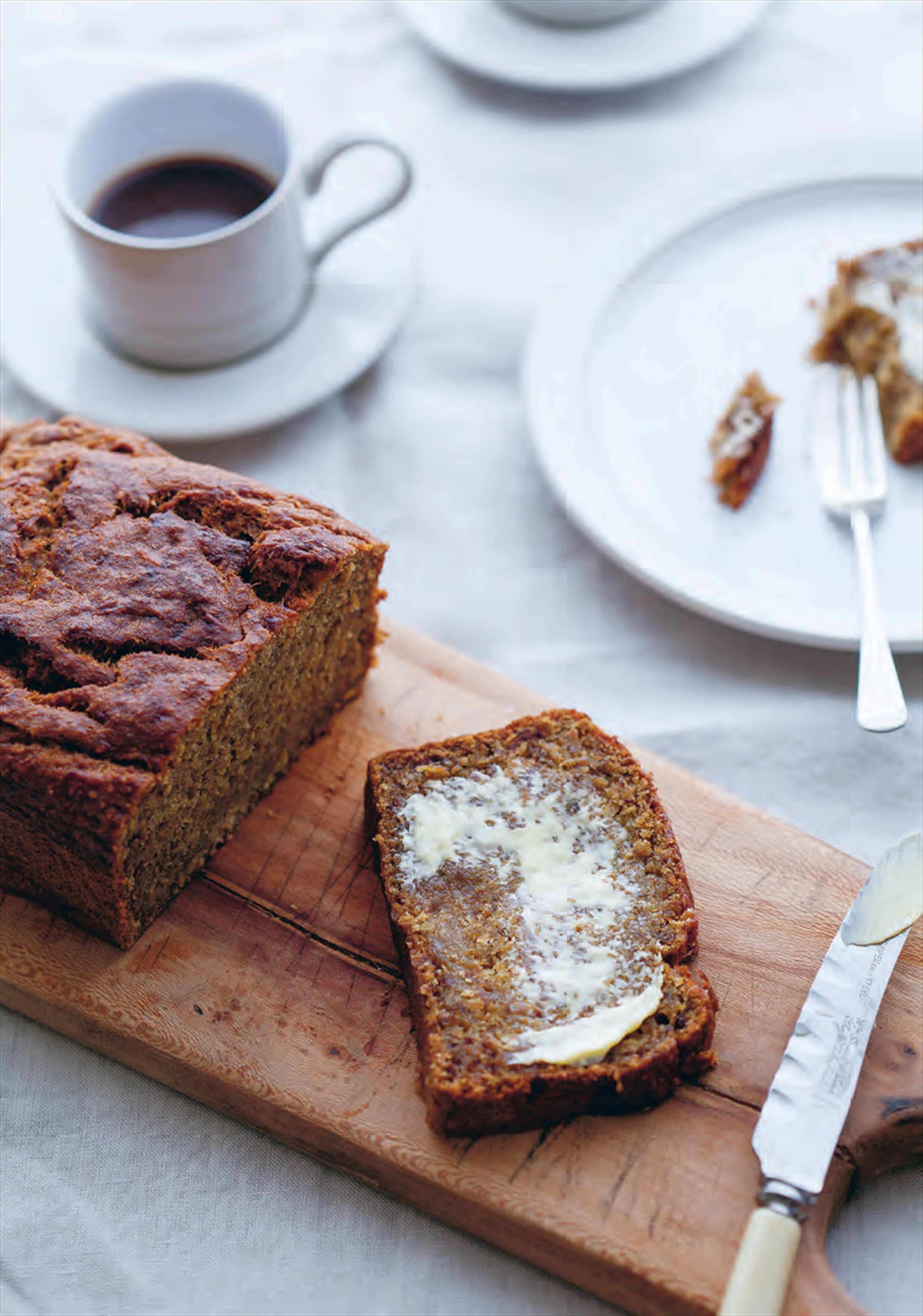 Malted banana and rye bread
