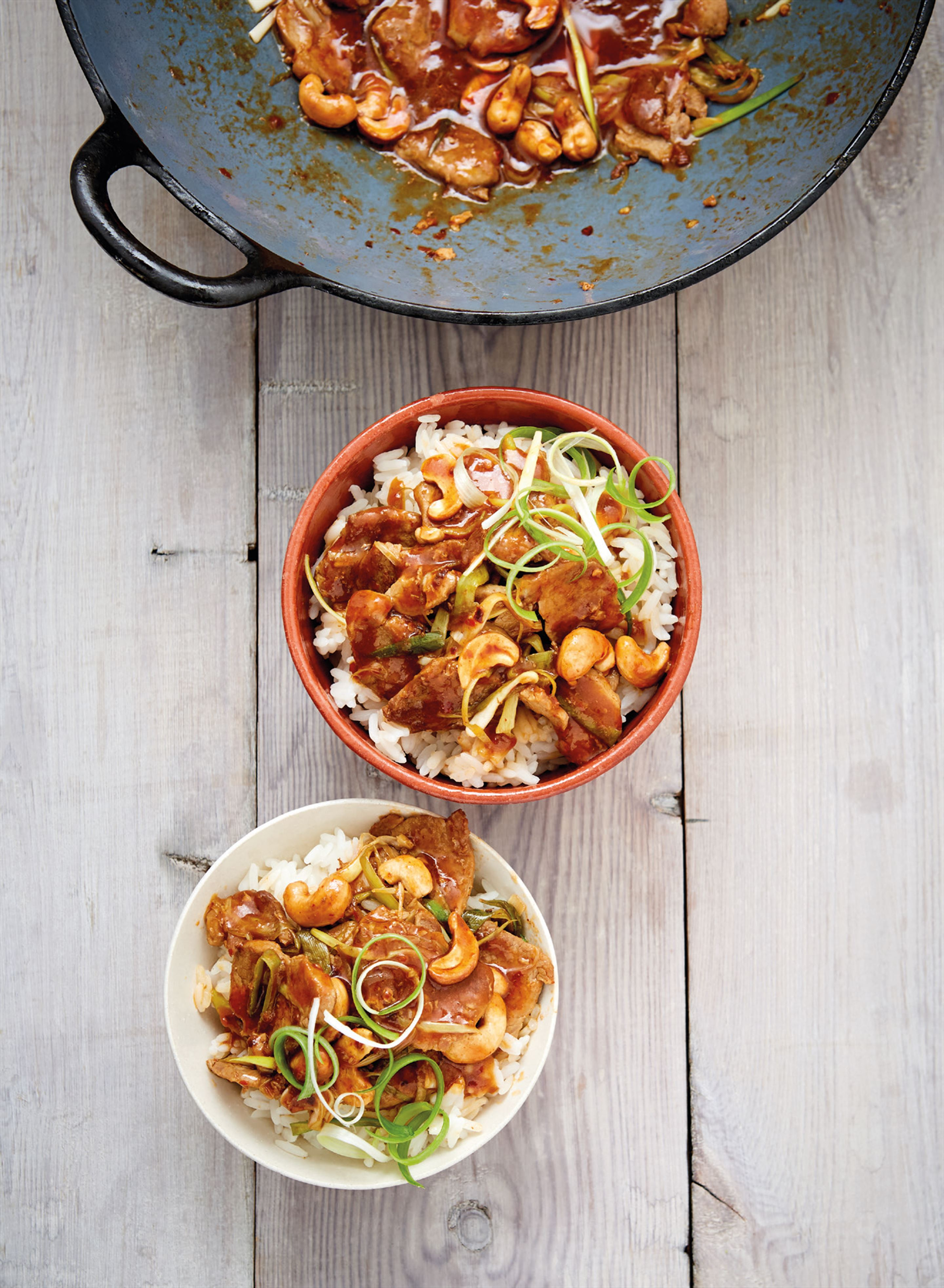 Pork and cashew nut stir-fry
