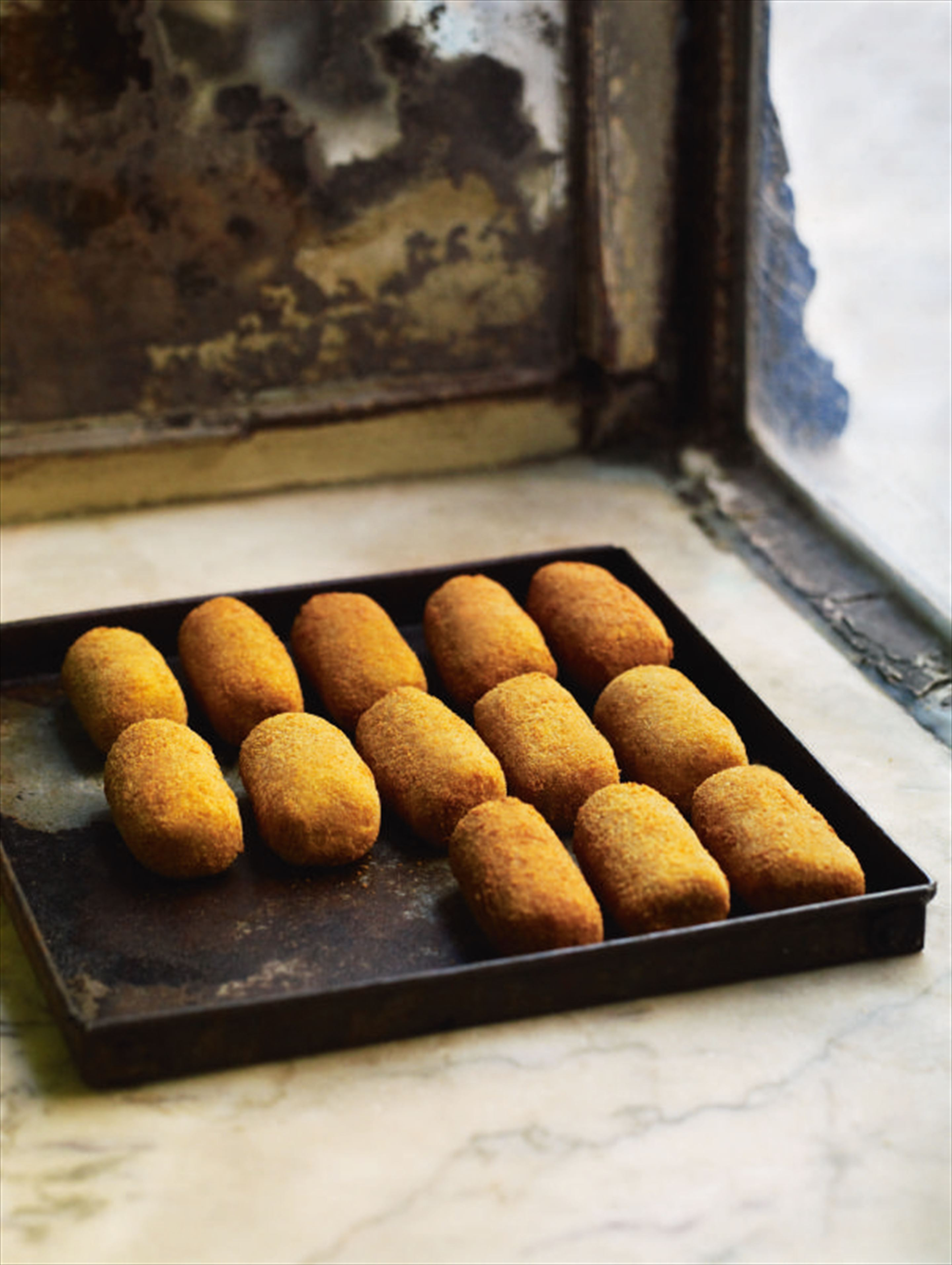 Pork and beef croquettes