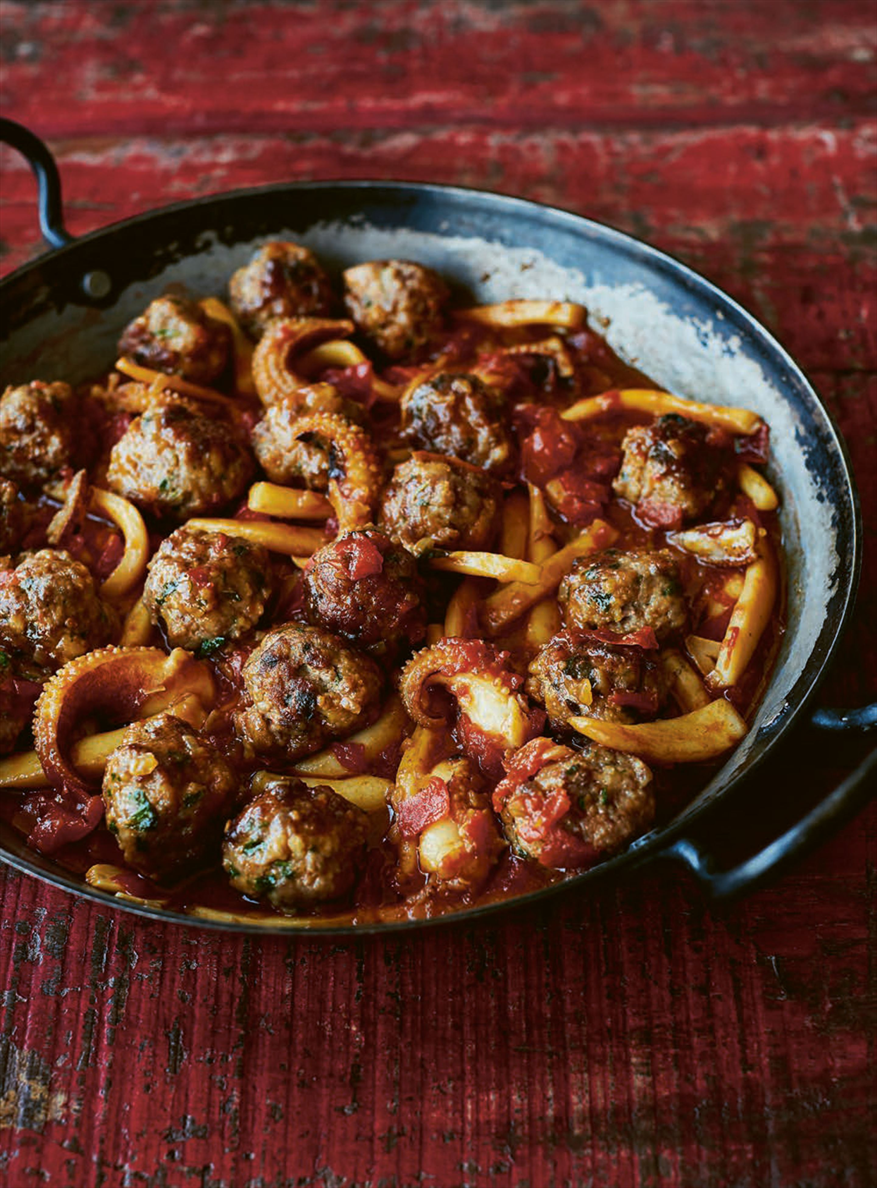 Meatballs with cuttlefish
