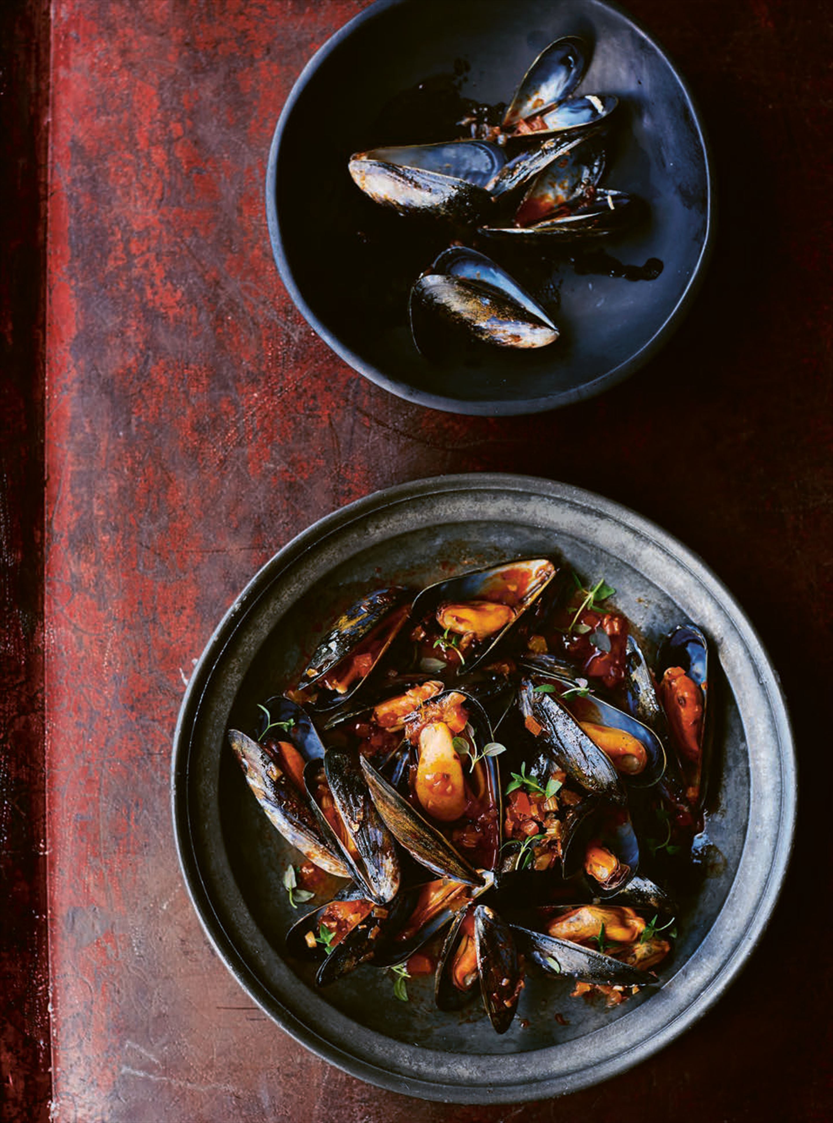 Mussels in escabeche
