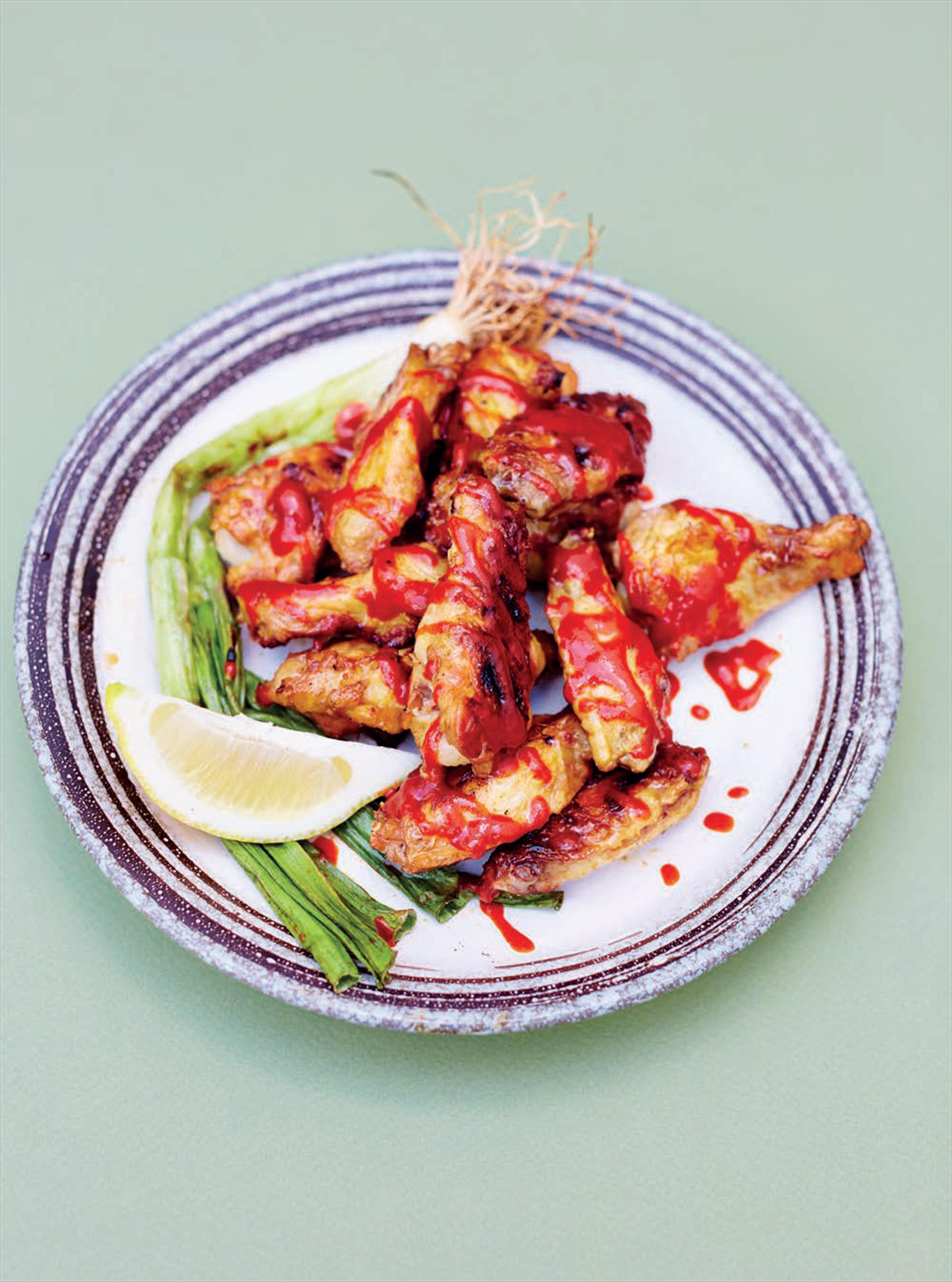 Miso grilled hot wings