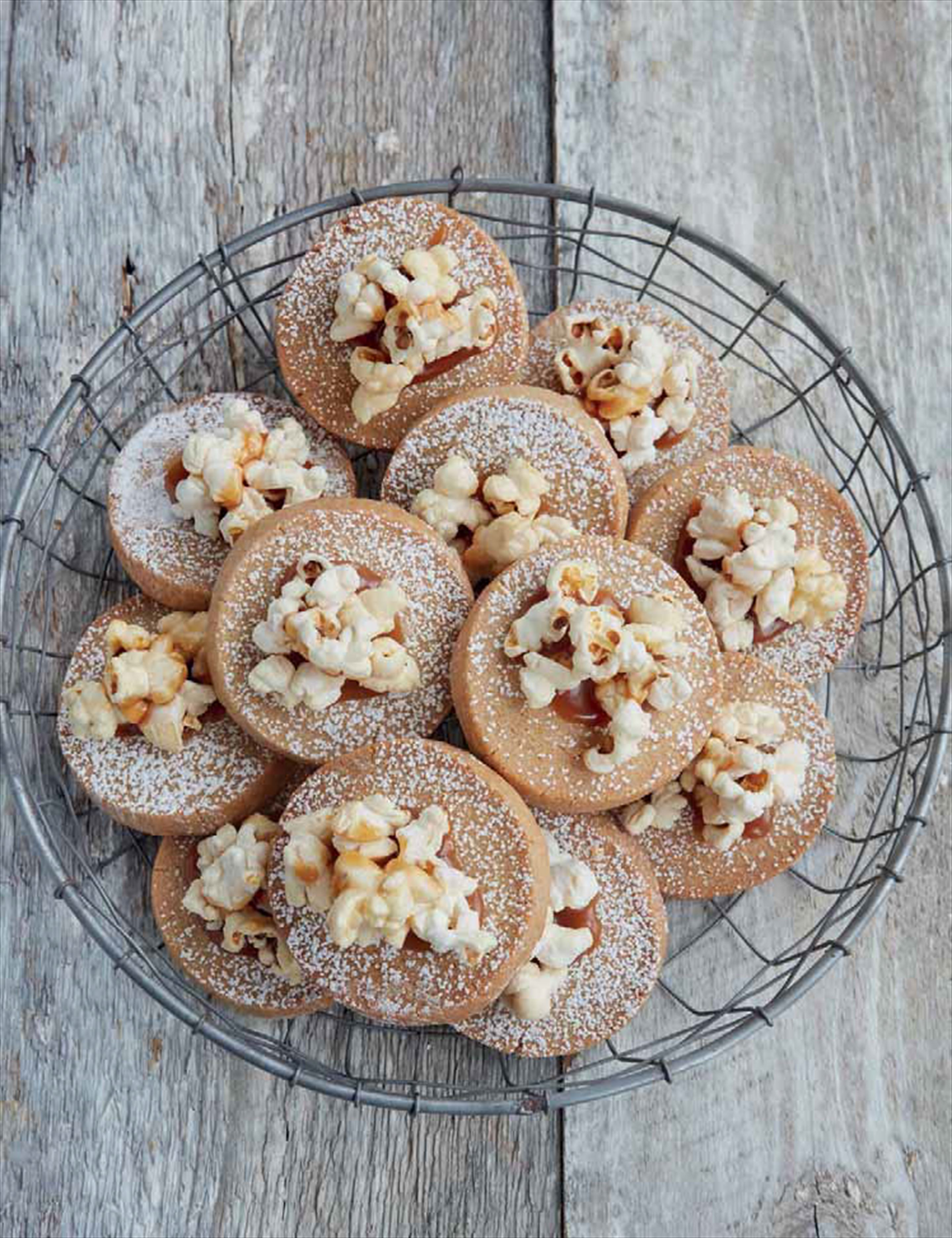 Salted caramel and popcorn cookies