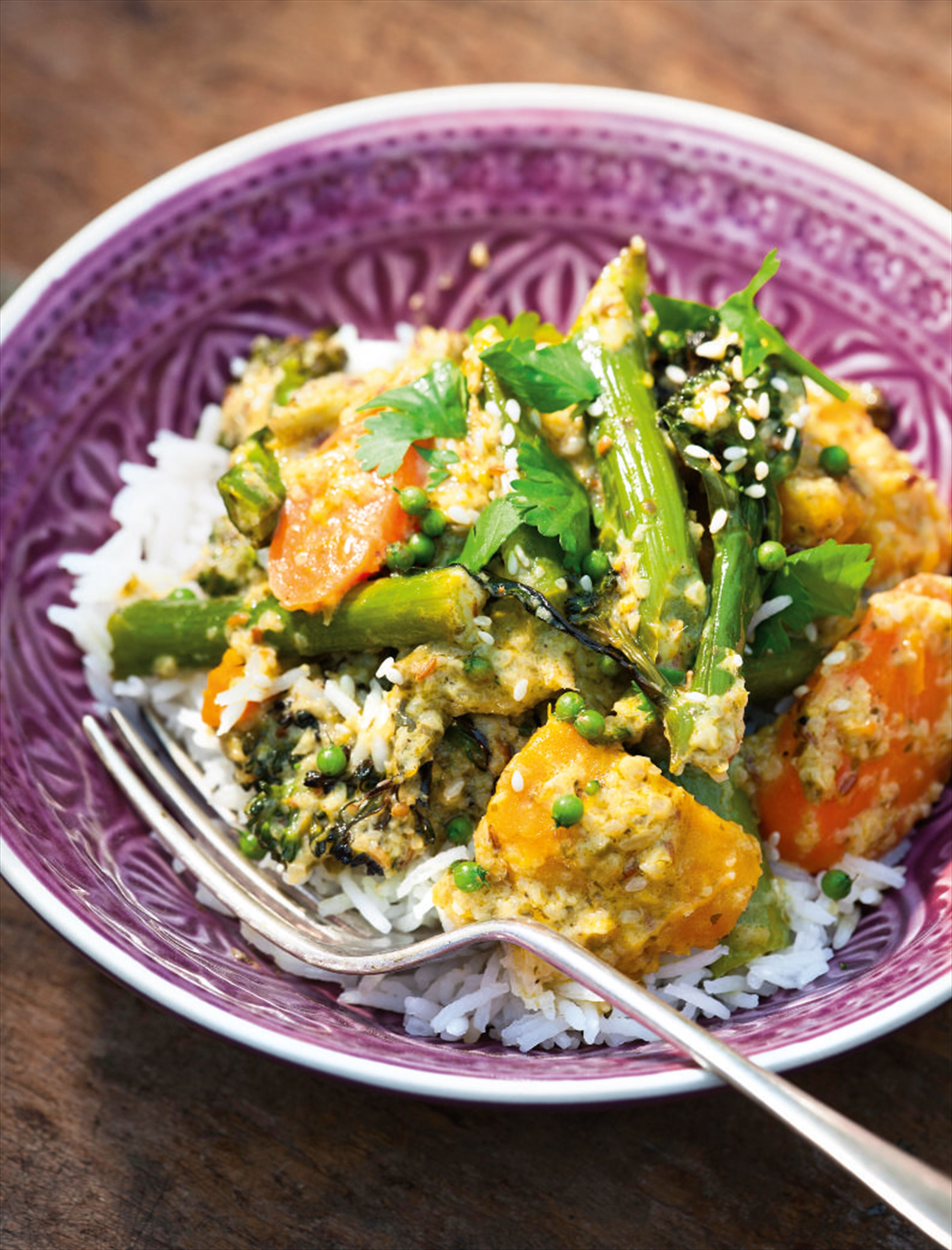 Green Thai Autumn fish and vegetable curry