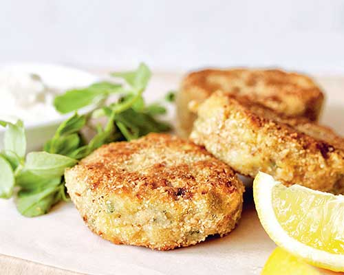 mackerel and oat fishcakes with horseradish mayonaise