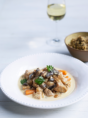Veal wine food recipe