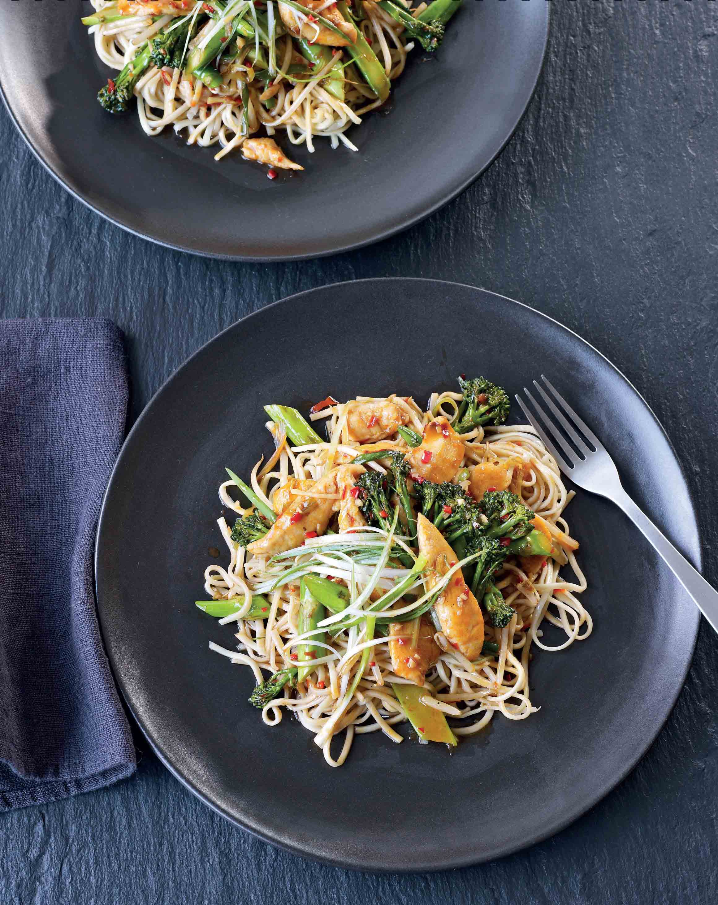 Chilli and ginger chicken noodles