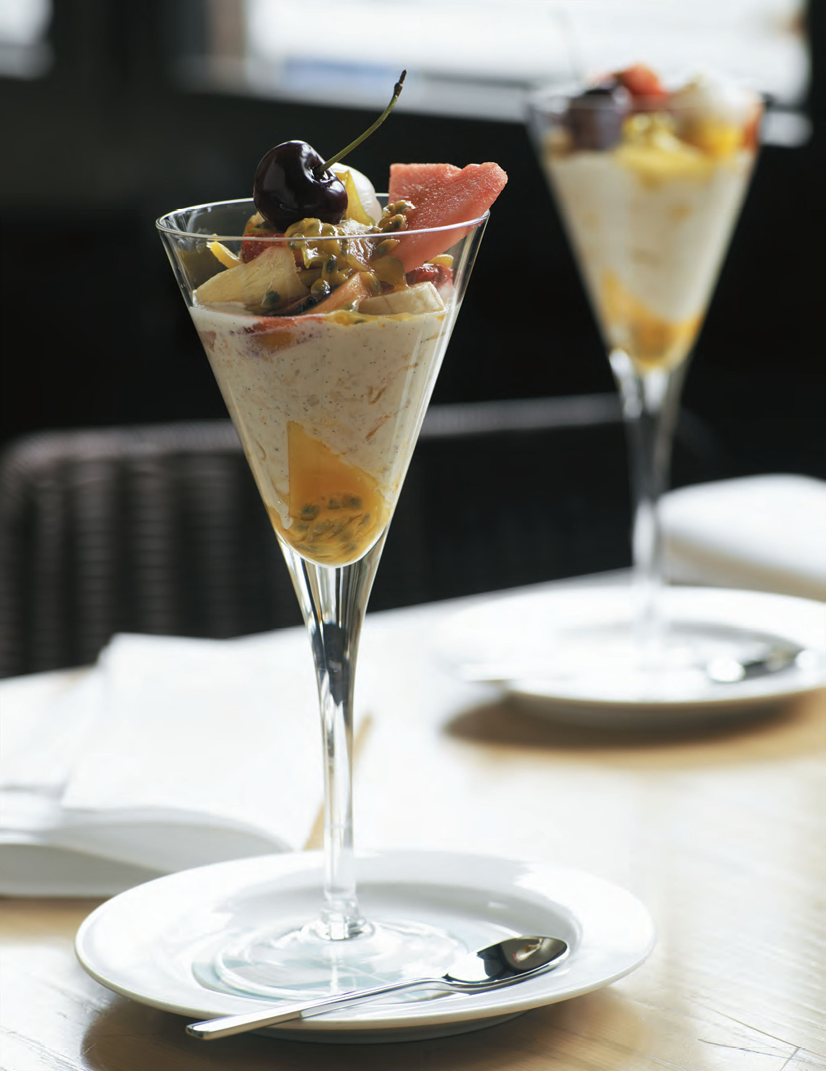 Mango and coconut muesli with exotic fruits