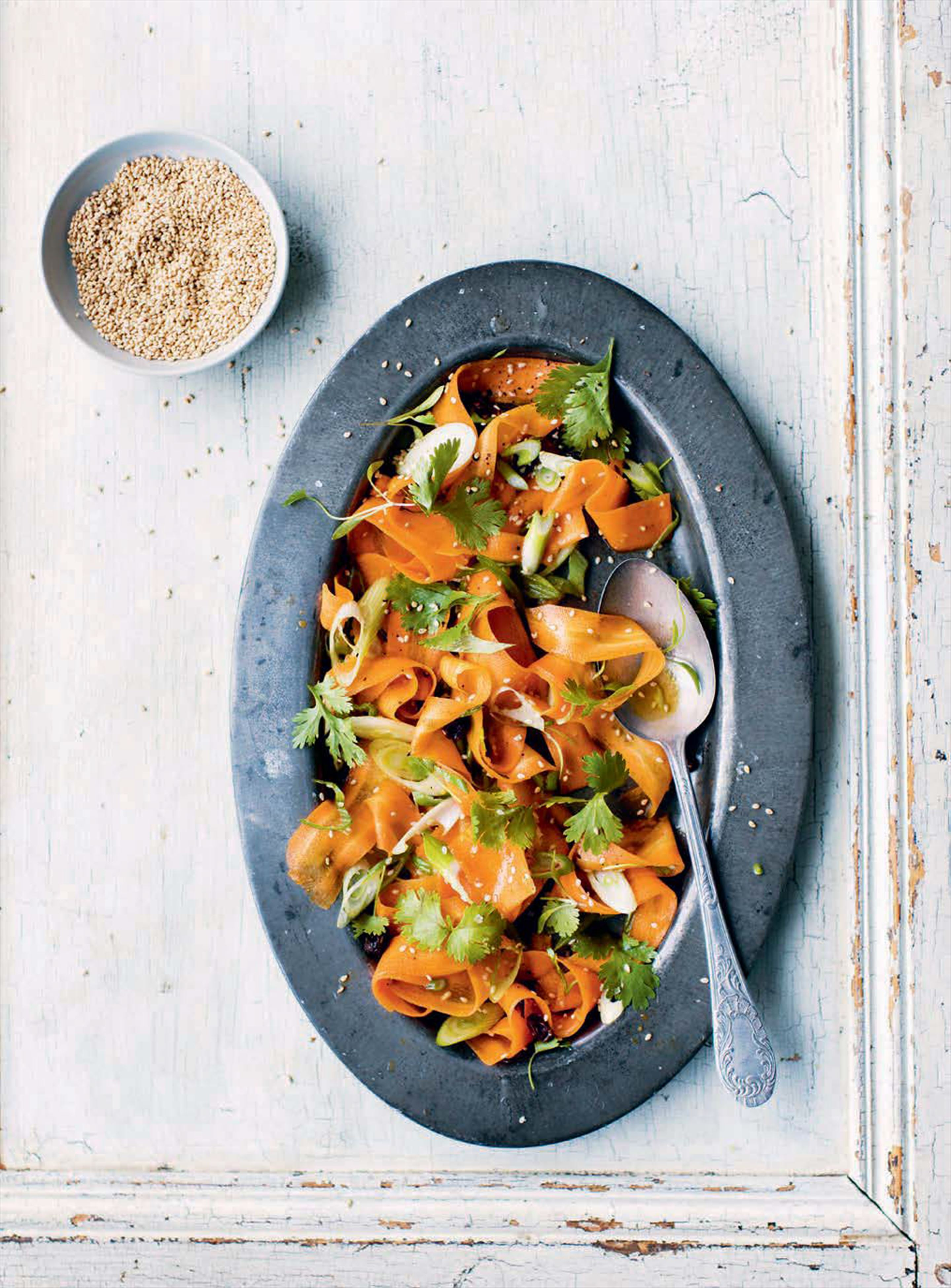 "Carrot ""noodle"" salad"