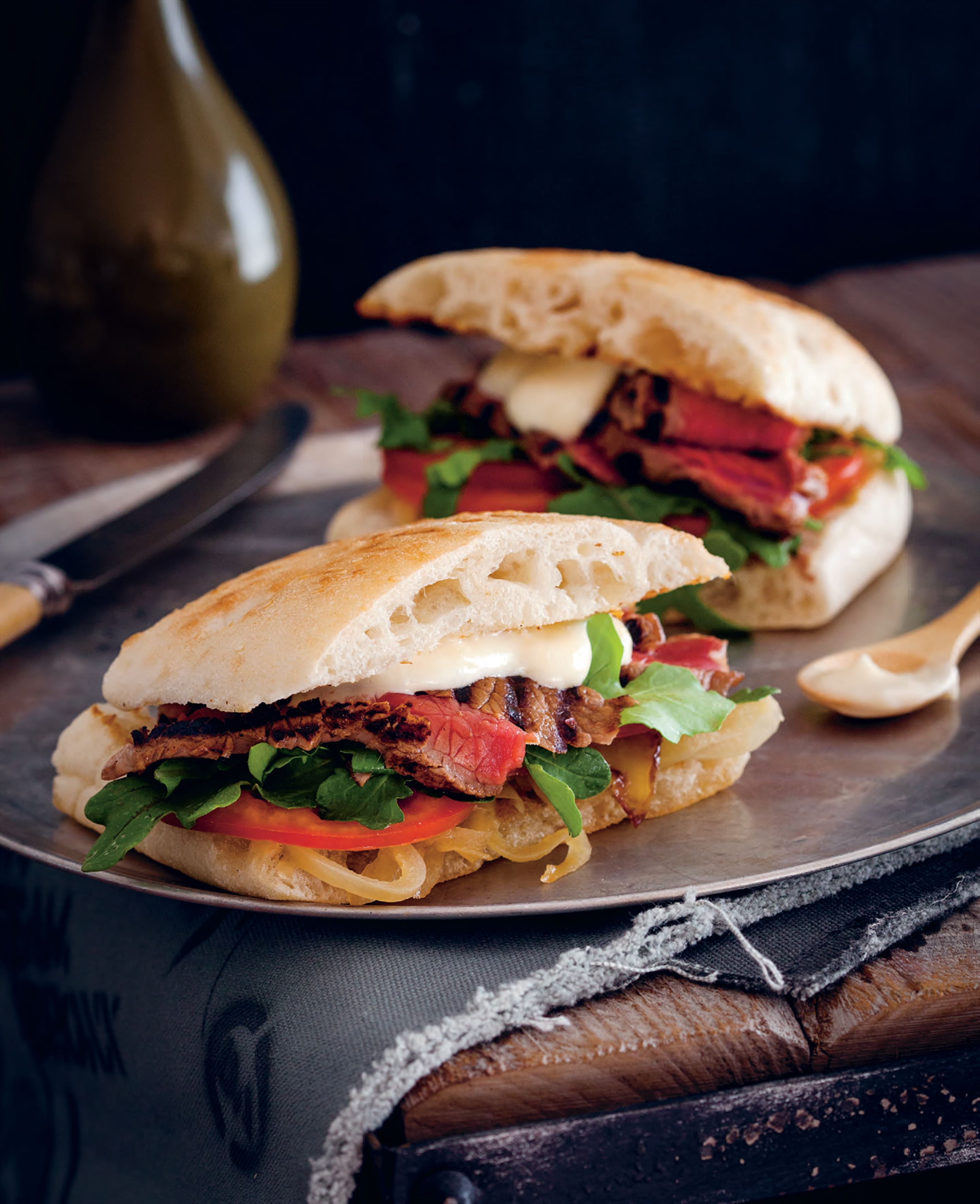 Aussie steak sandwich