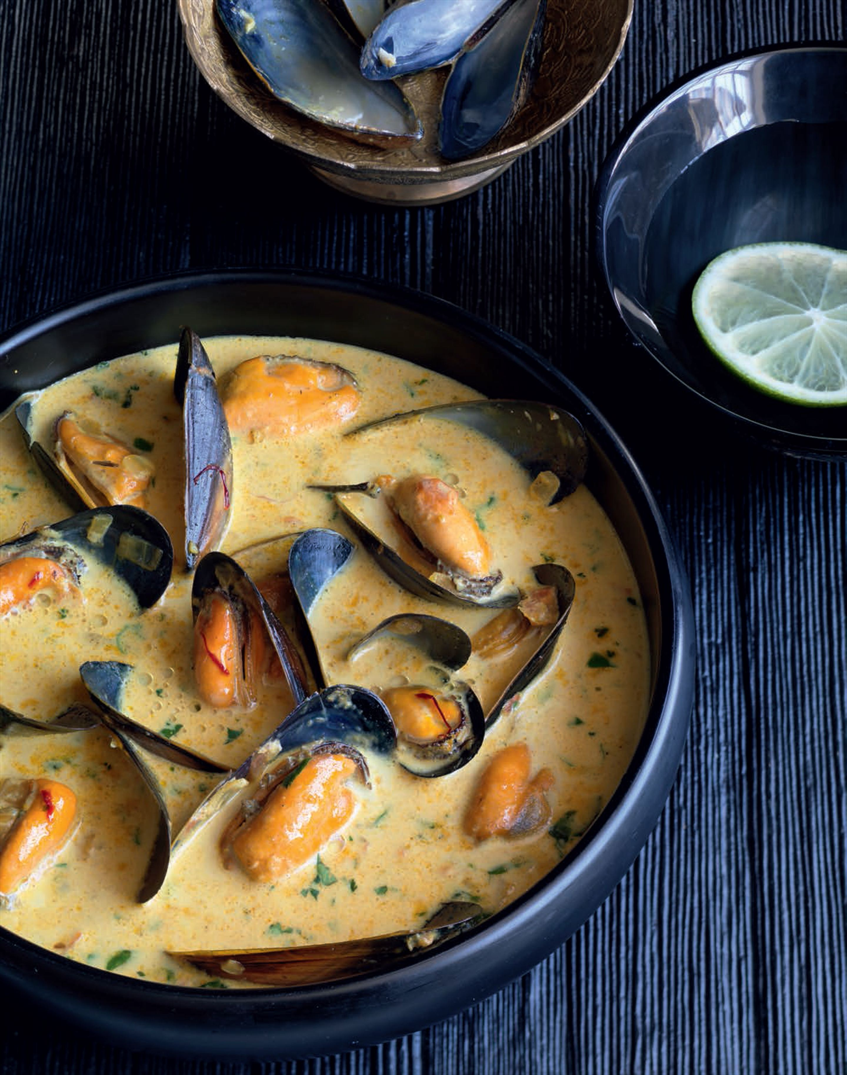 Mussels with saffron