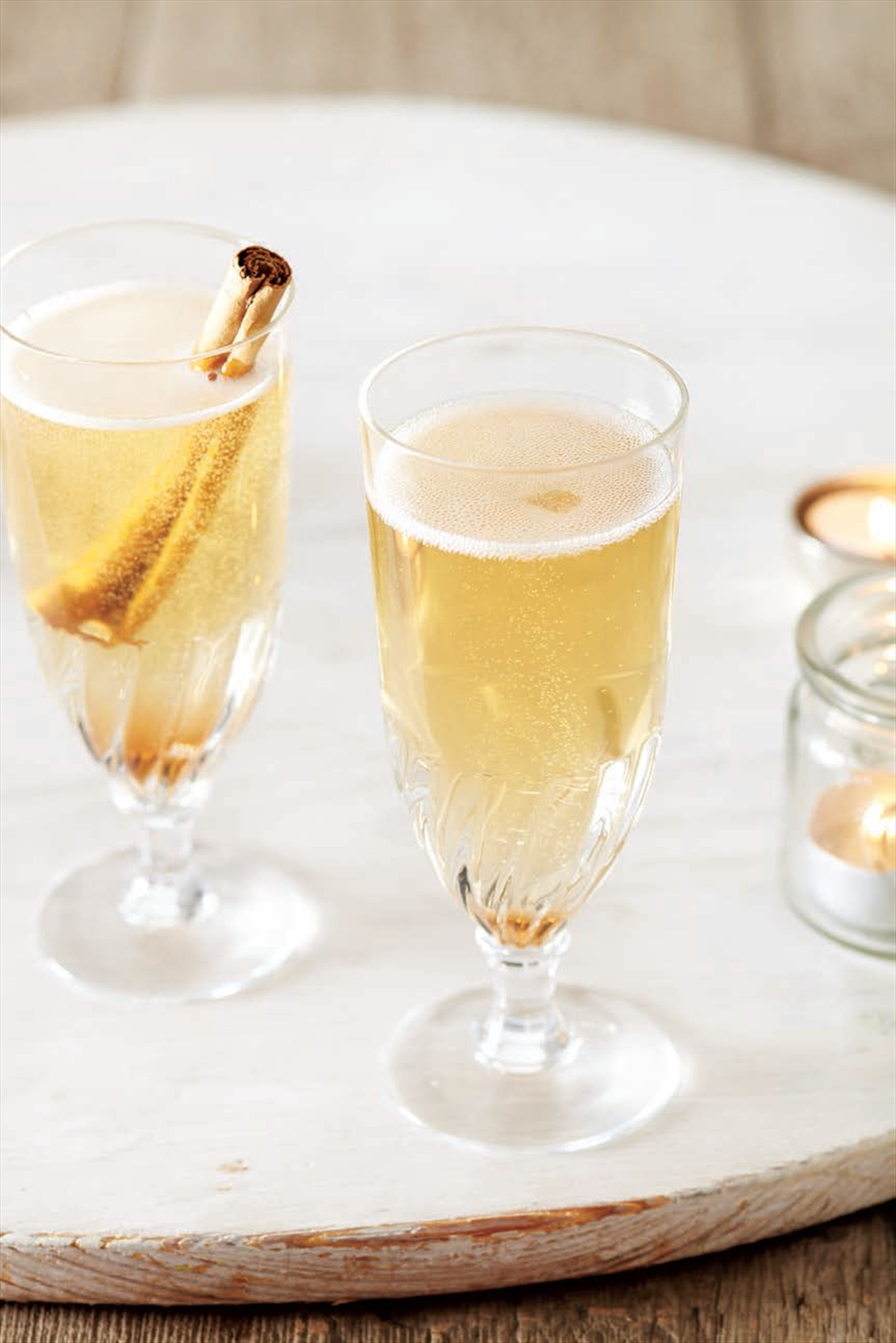 Cinnamon champagne cocktail