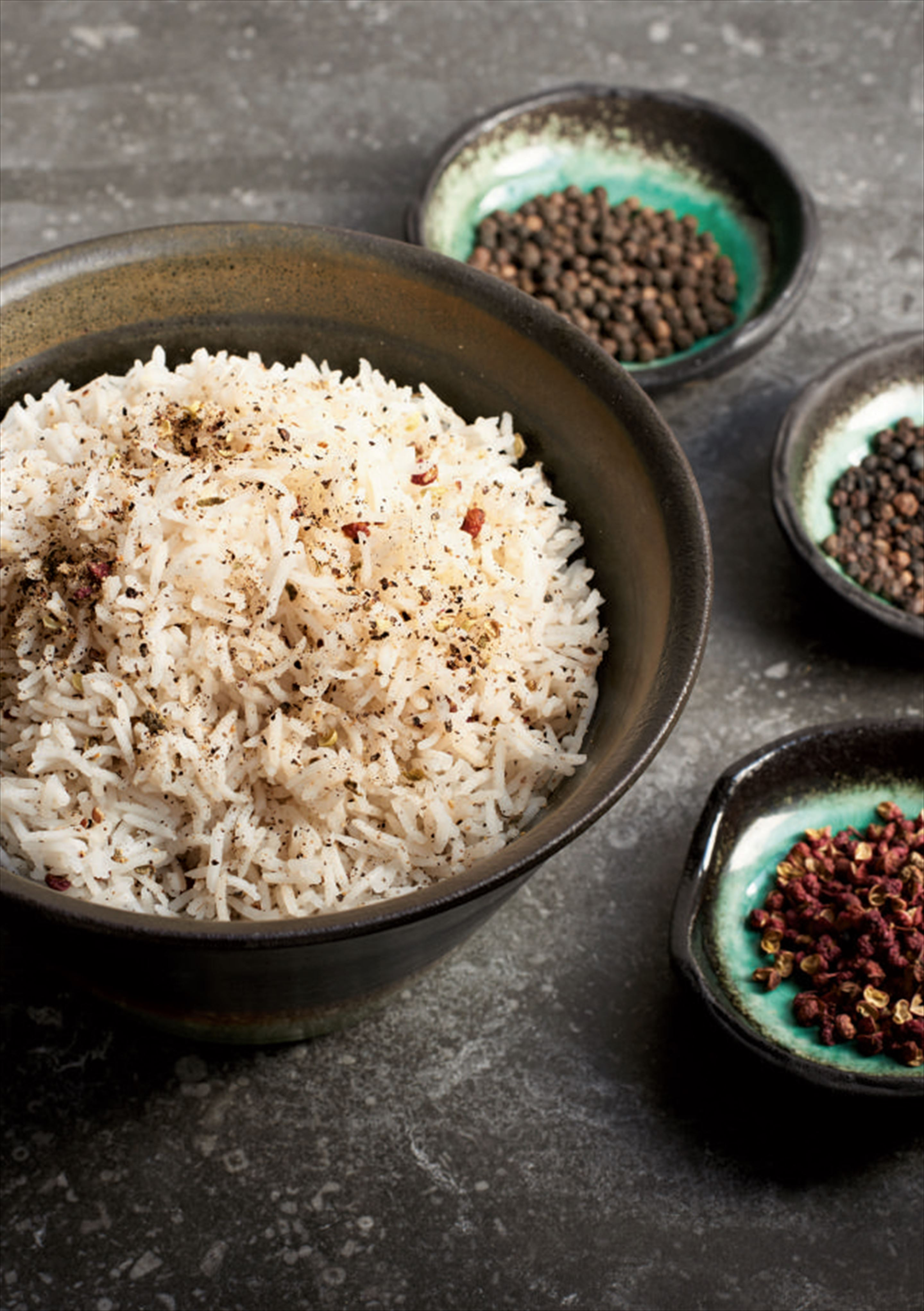 Three pepper rice