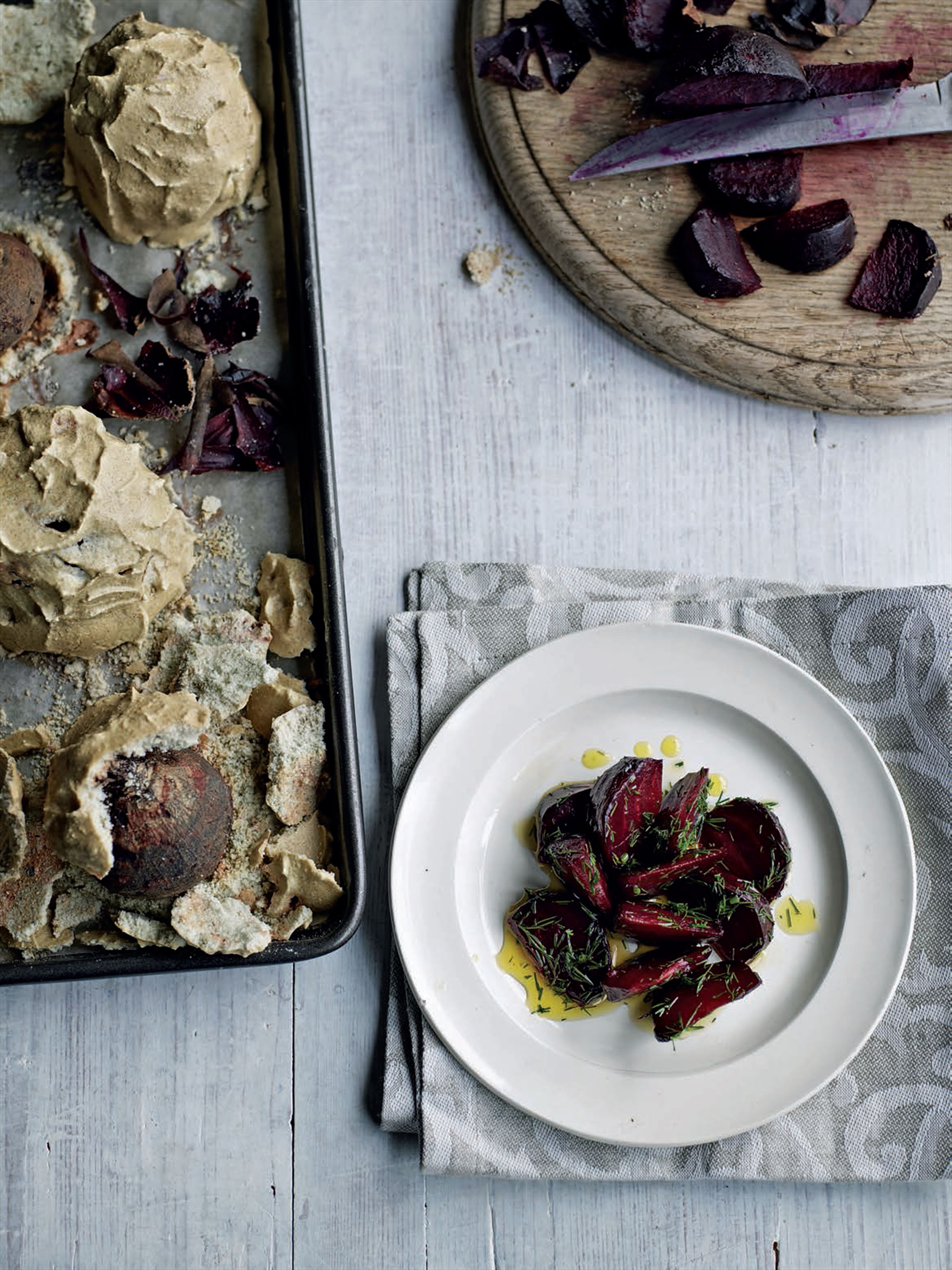 Salt-baked beetroot