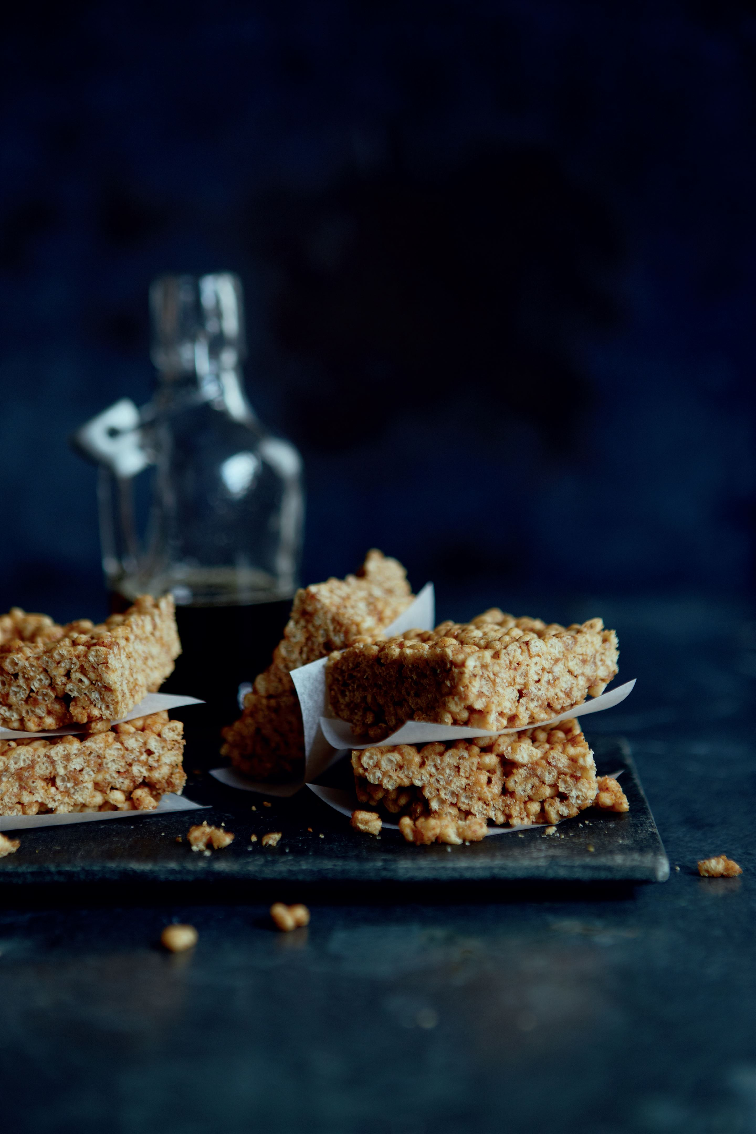 Healthy crispy rice bars