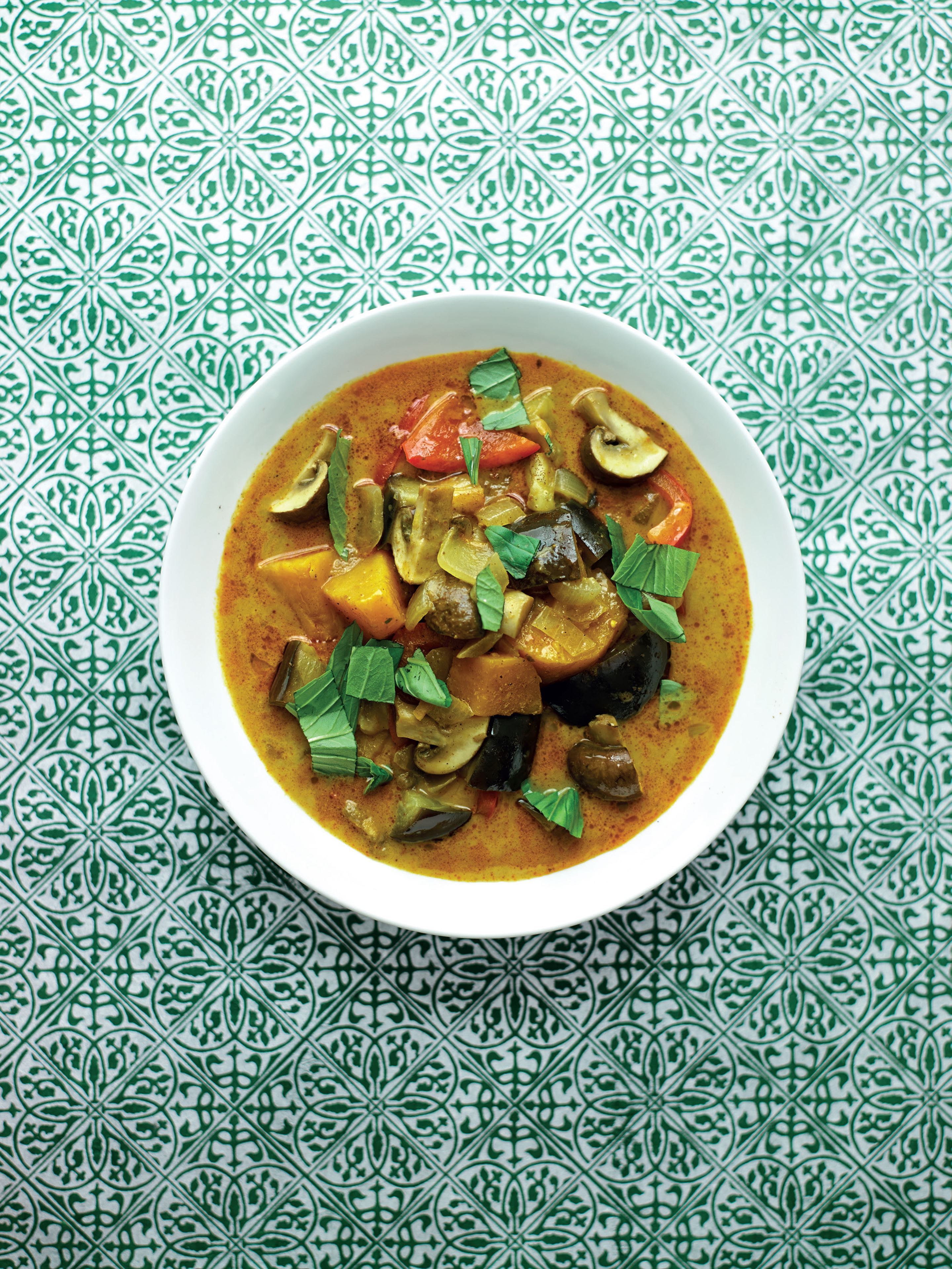 Massaman curry with sweet potato