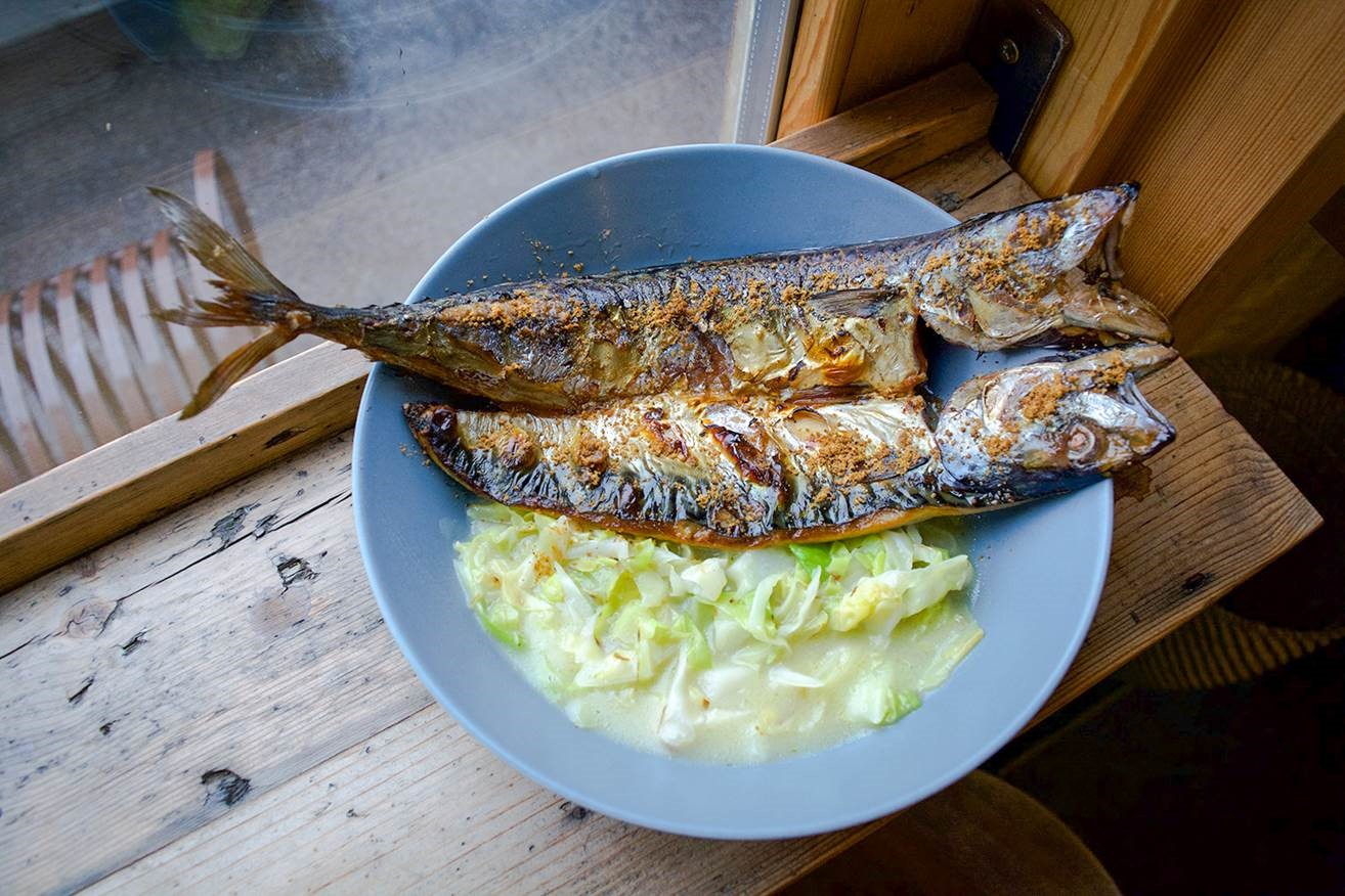 We went. We ate. We cooked: Leo Carreira at Climpson Arch's cabbage, rice starch and mackerel