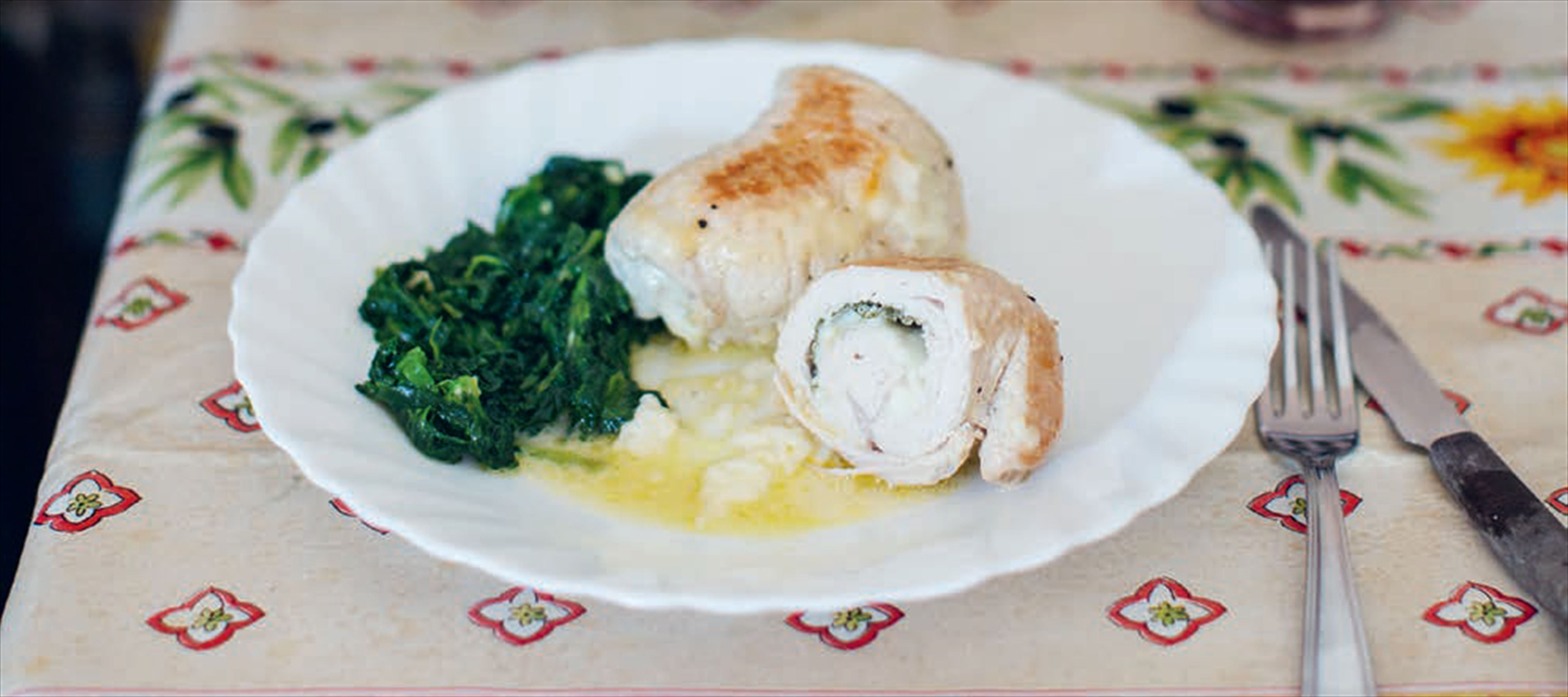 Turkey breast stuffed with pecorino & sage alla Livia